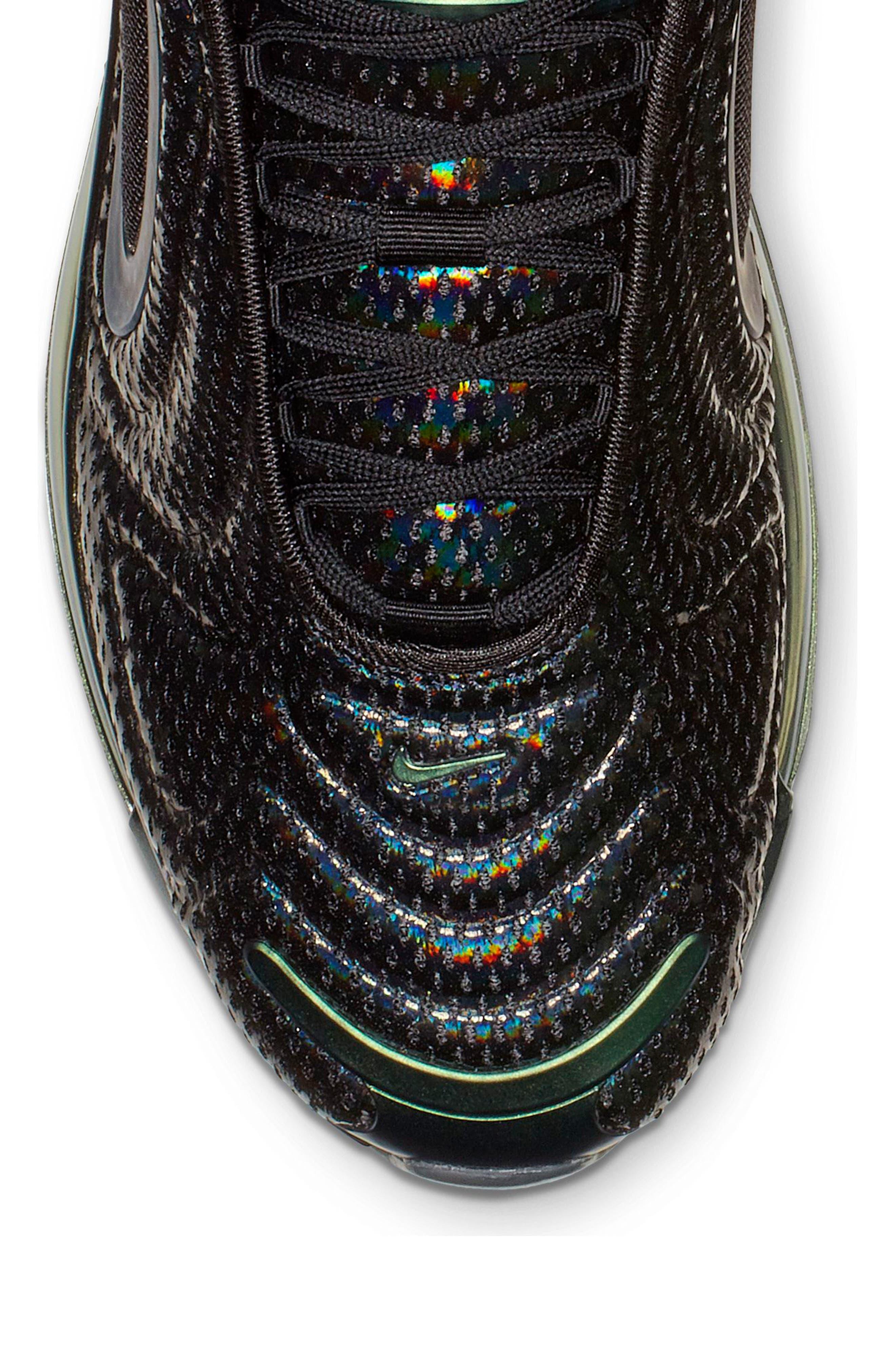 NIKE, Air Max 720 Sneaker, Alternate thumbnail 6, color, BLACK/ FUCHSIA/ ANTHRACITE
