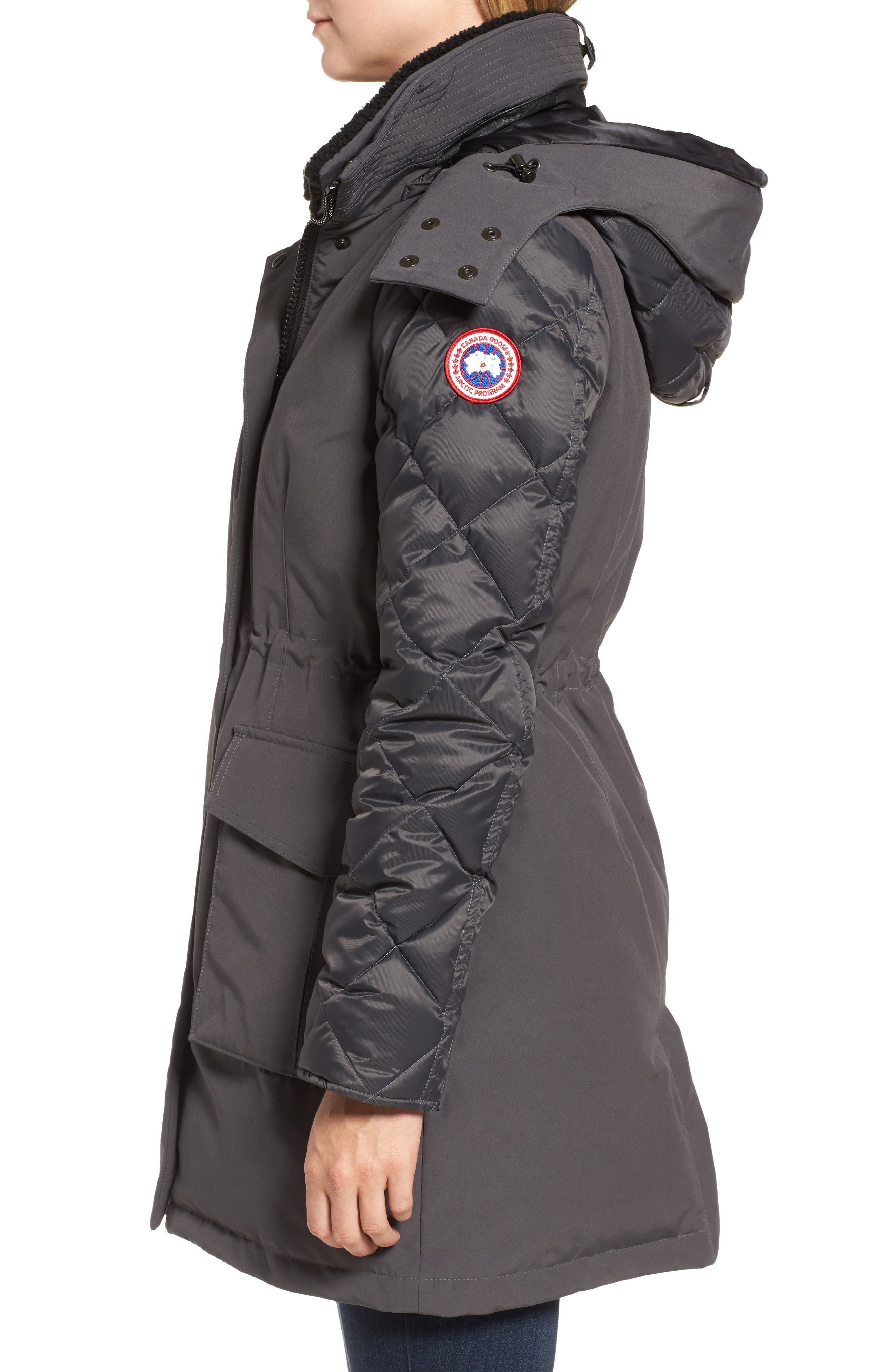 CANADA GOOSE, Elwin Power Fill Down Jacket, Alternate thumbnail 4, color, GRAPHITE