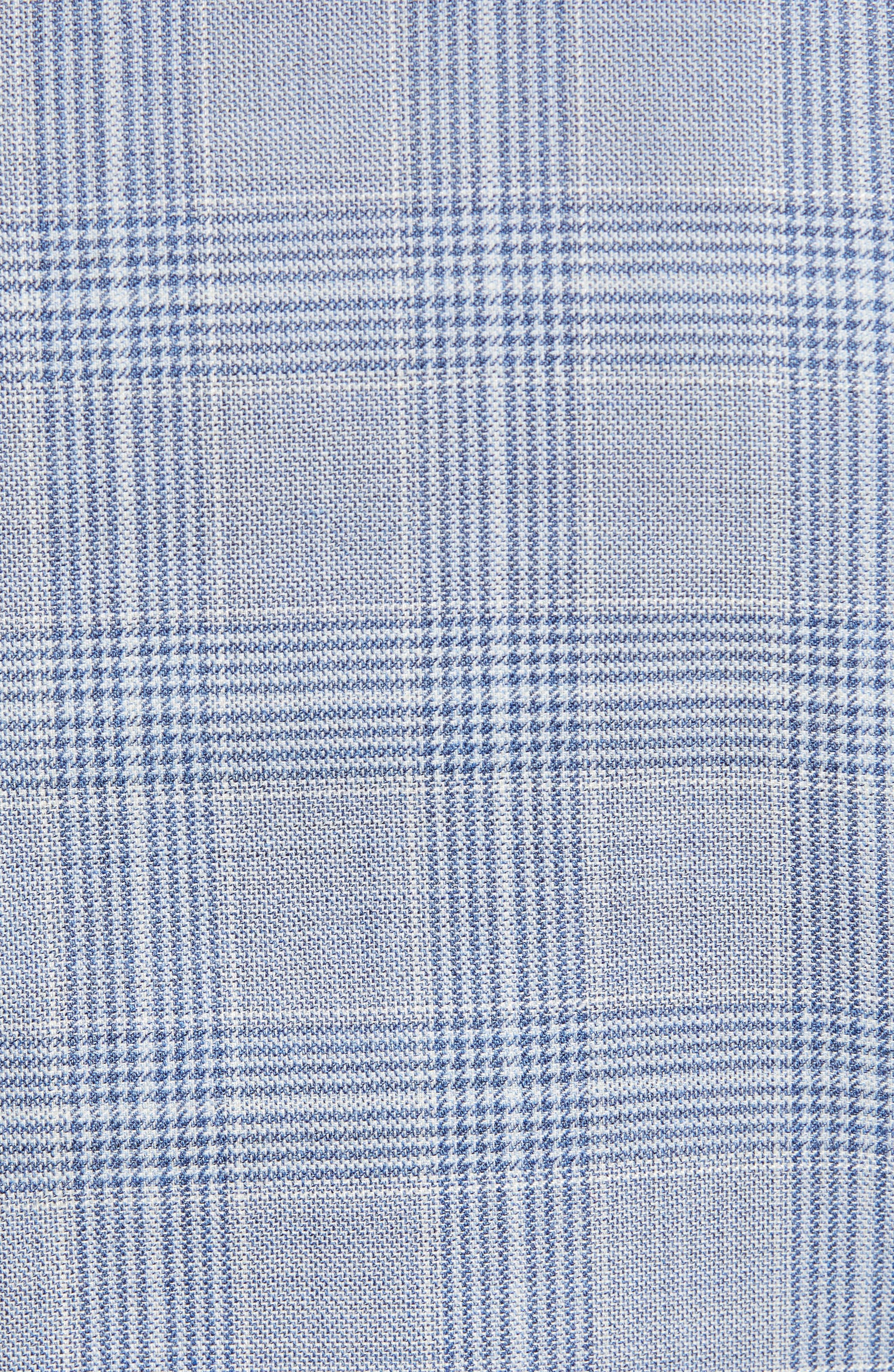 DAVID DONAHUE, Arnold Classic Fit Plaid Wool Sport Coat, Alternate thumbnail 6, color, BLUE
