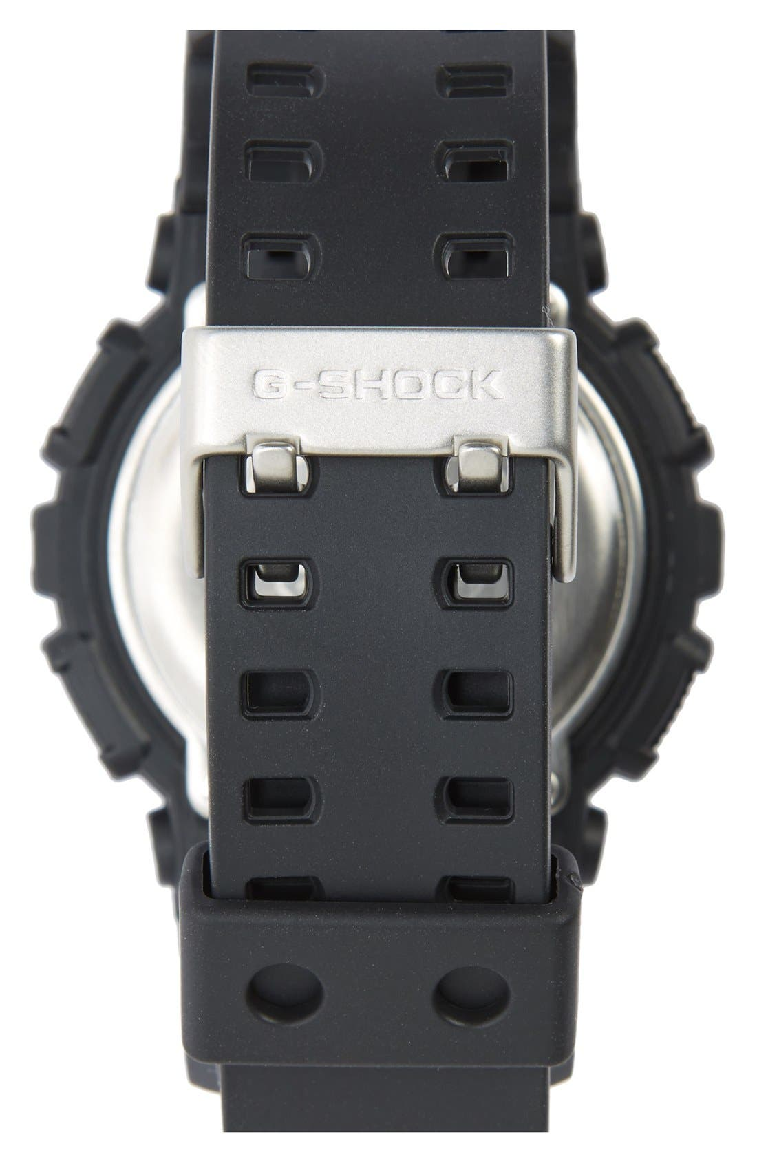 G-SHOCK BABY-G, G-Shock 'Super Luminosity' Digital Watch, 48mm, Alternate thumbnail 5, color, BLACK