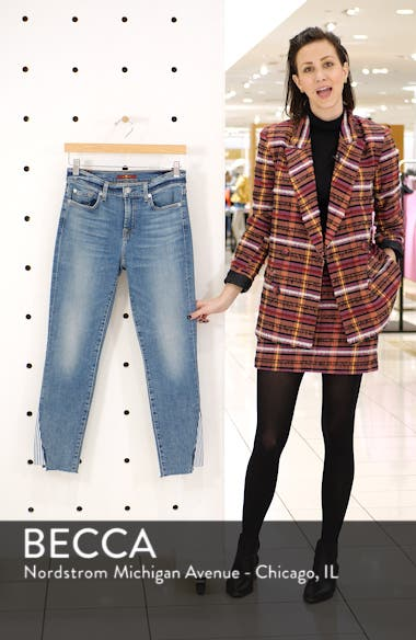 Stripe Inset Ankle Skinny Jeans, sales video thumbnail