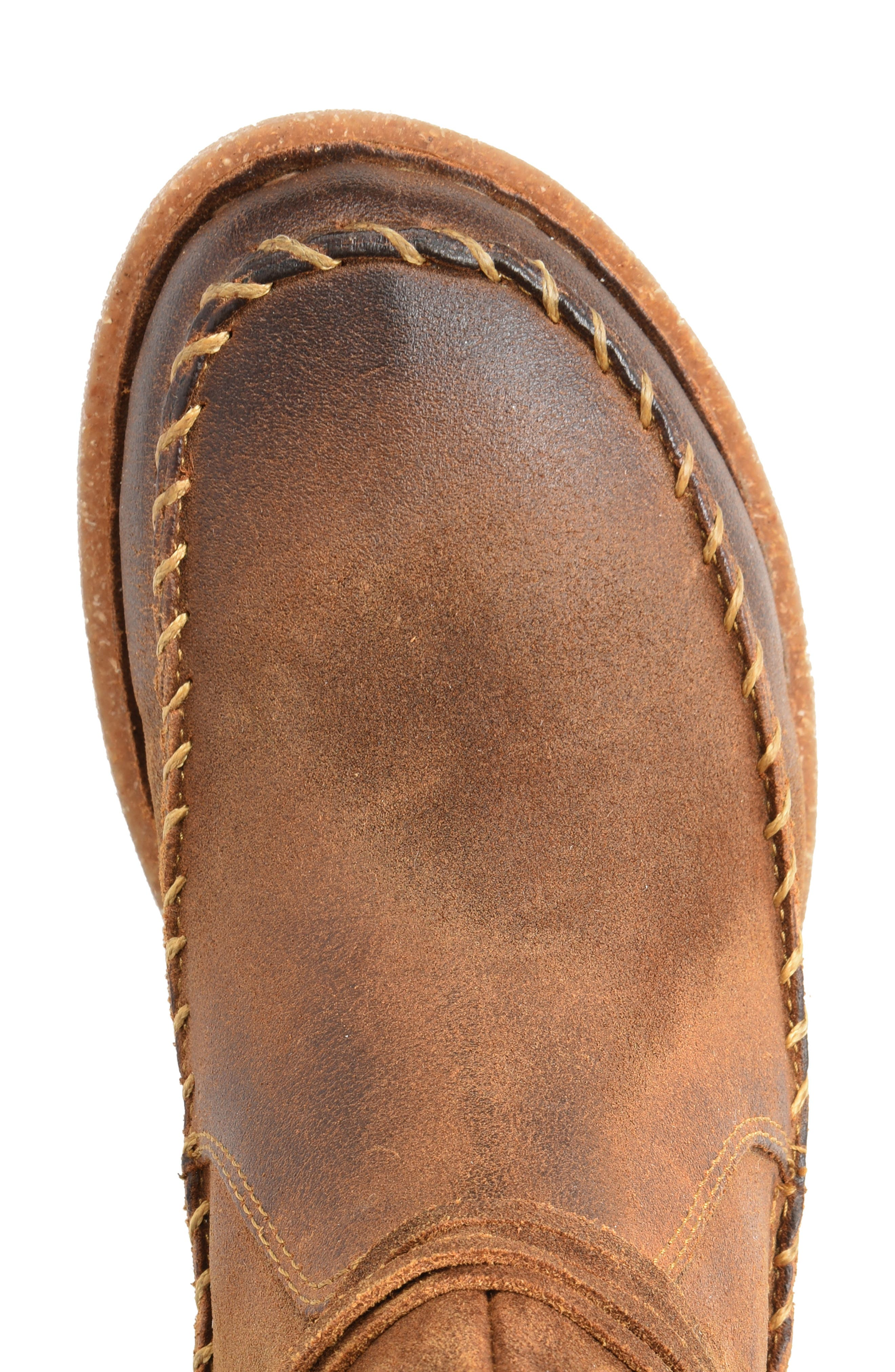 BØRN, Torrey Boot, Alternate thumbnail 4, color, RUST DISTRESSED LEATHER