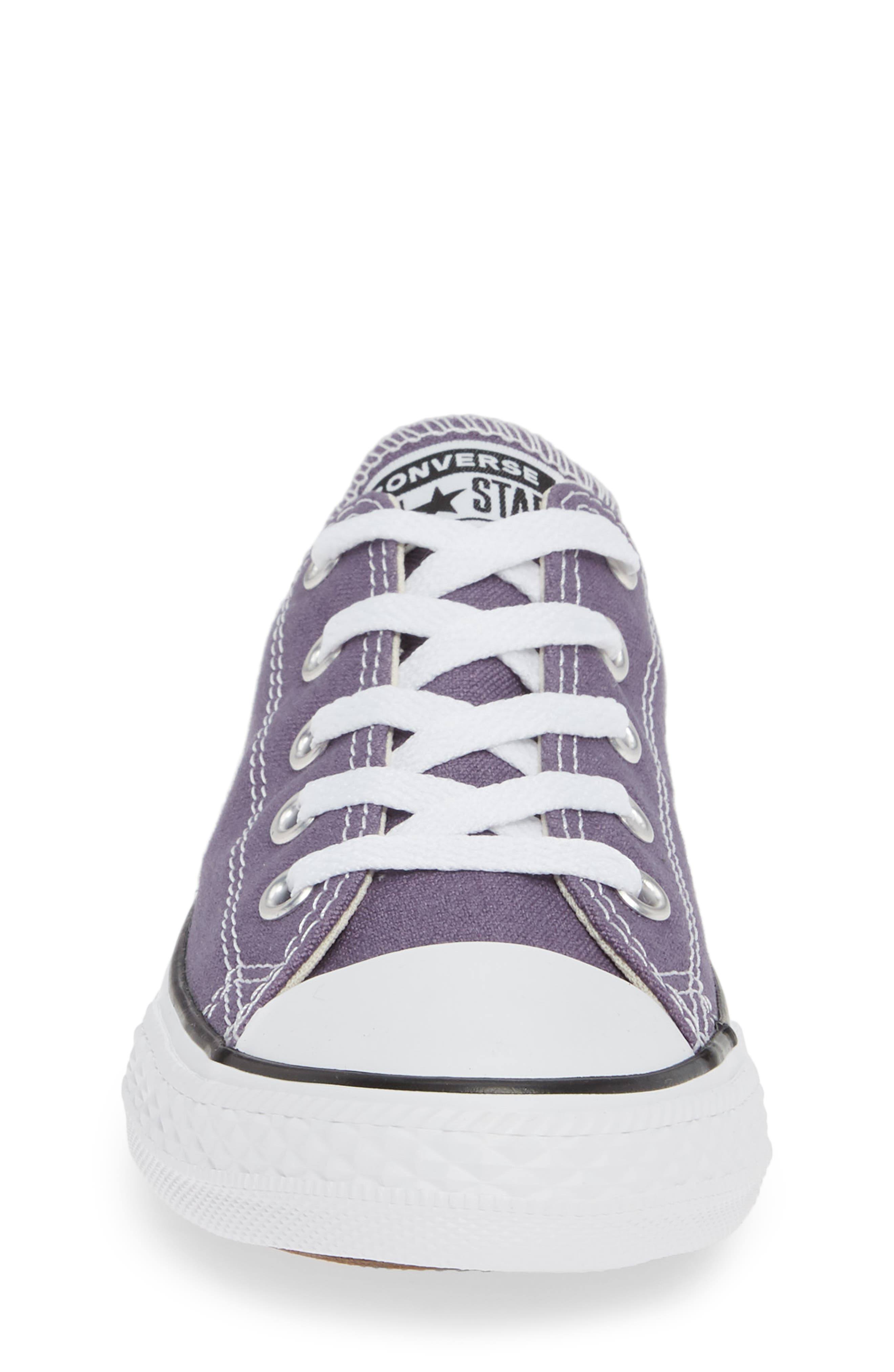 CONVERSE, Chuck Taylor<sup>®</sup> Sneaker, Alternate thumbnail 4, color, MOODY PURPLE/ NATURAL IVORY