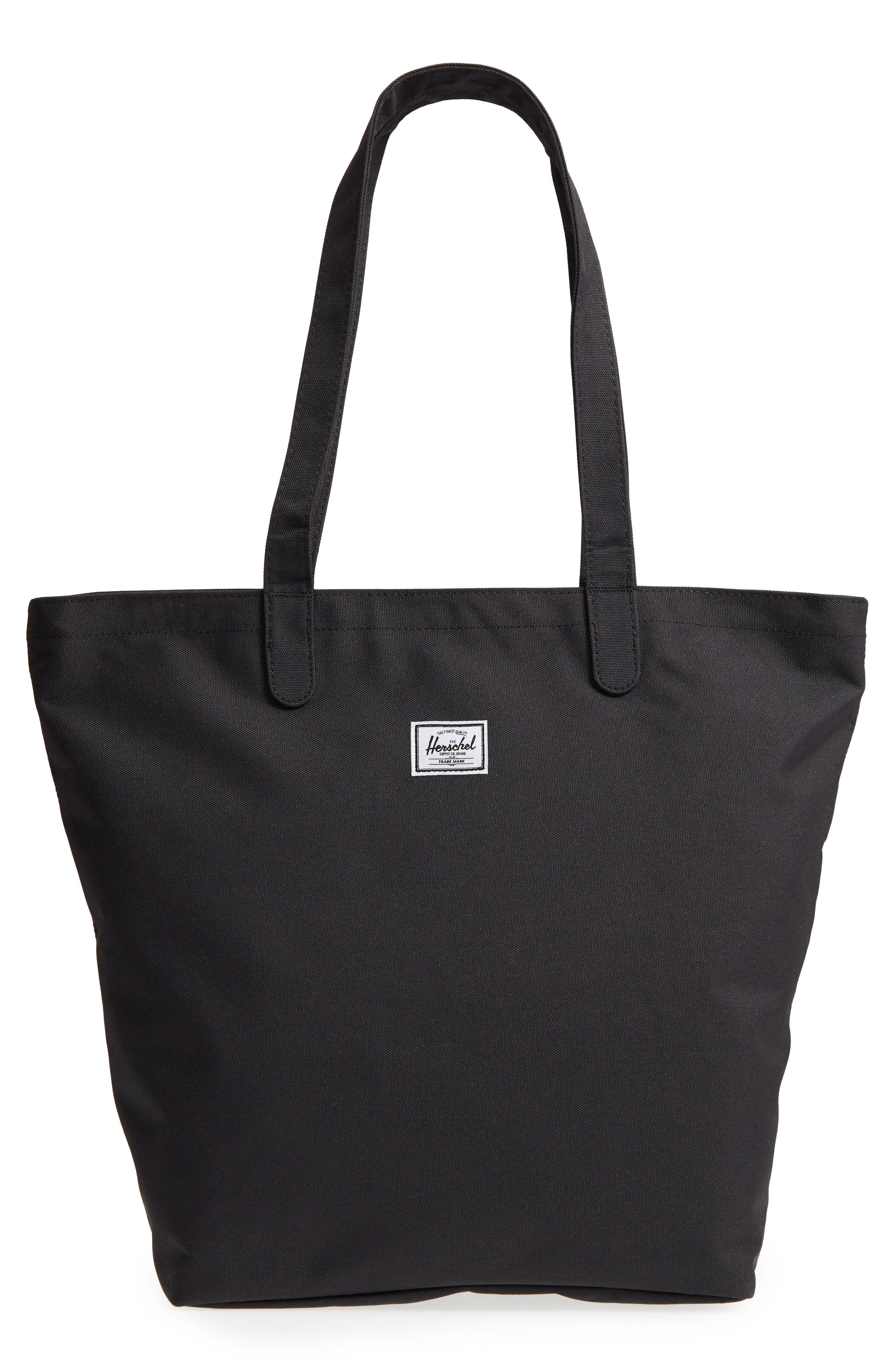 HERSCHEL SUPPLY CO., Mica Canvas Tote, Main thumbnail 1, color, BLACK