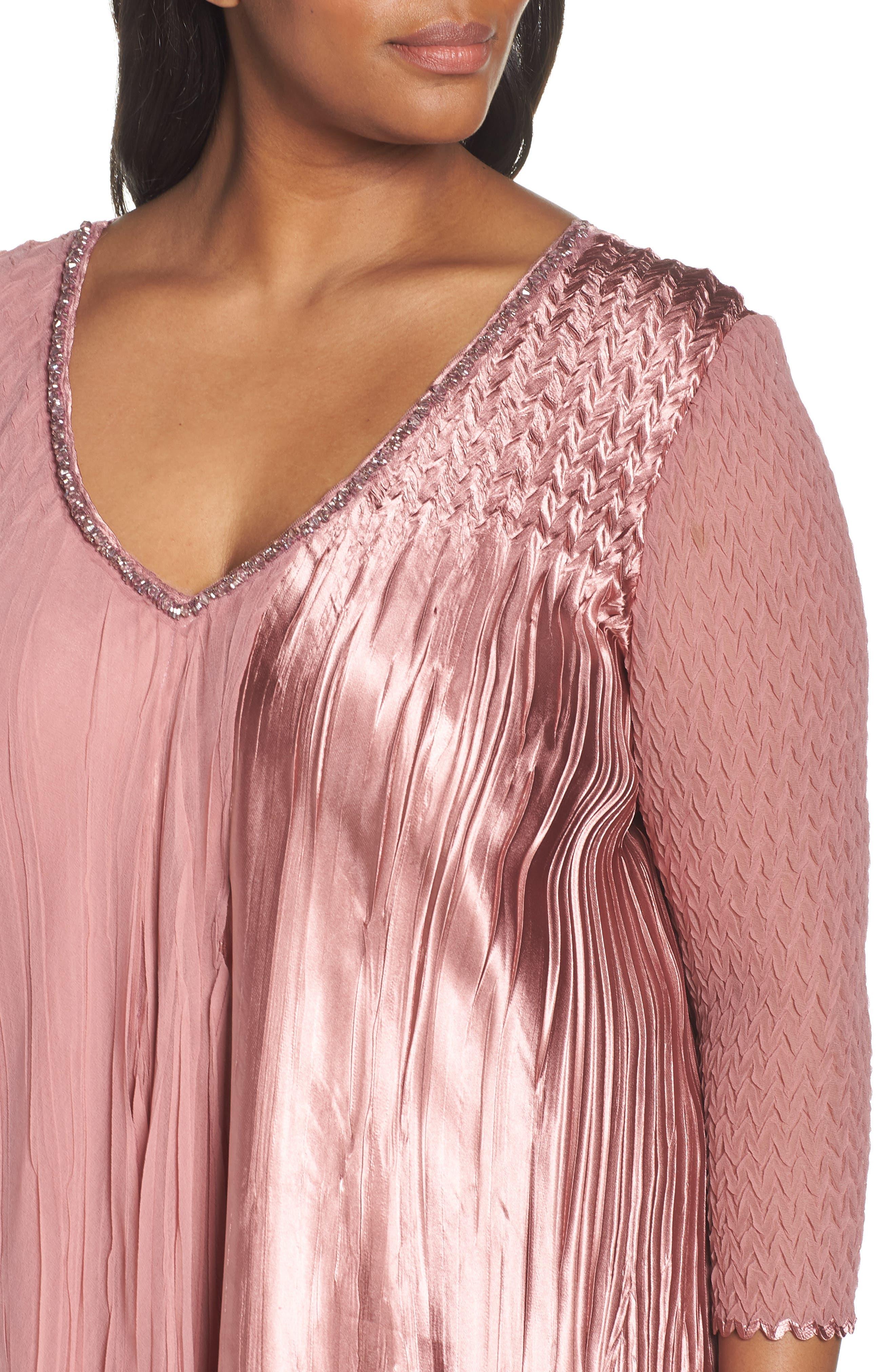 KOMAROV, Tiered A-Line Dress, Alternate thumbnail 5, color, 680
