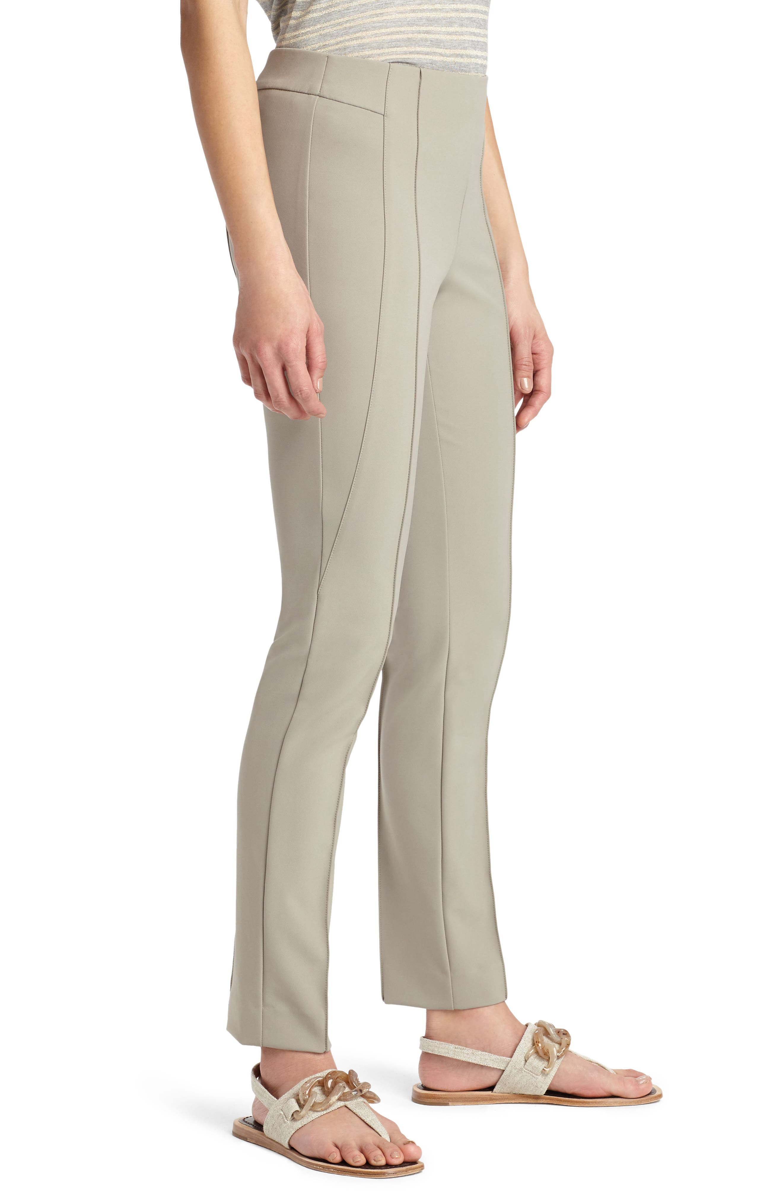 LAFAYETTE 148 NEW YORK, 'Gramercy' Acclaimed Stretch Pants, Alternate thumbnail 5, color, PARTRIDGE