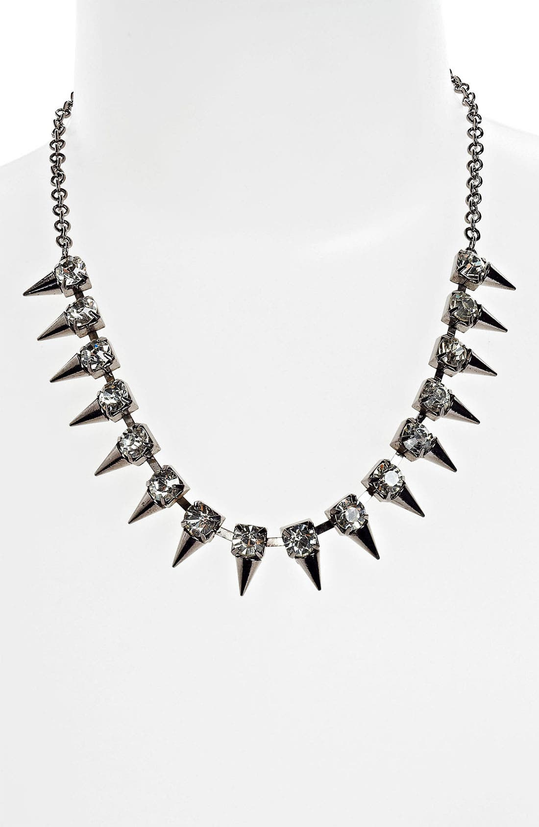 BP. Rhinestone Spike Statement Necklace, Main, color, 040