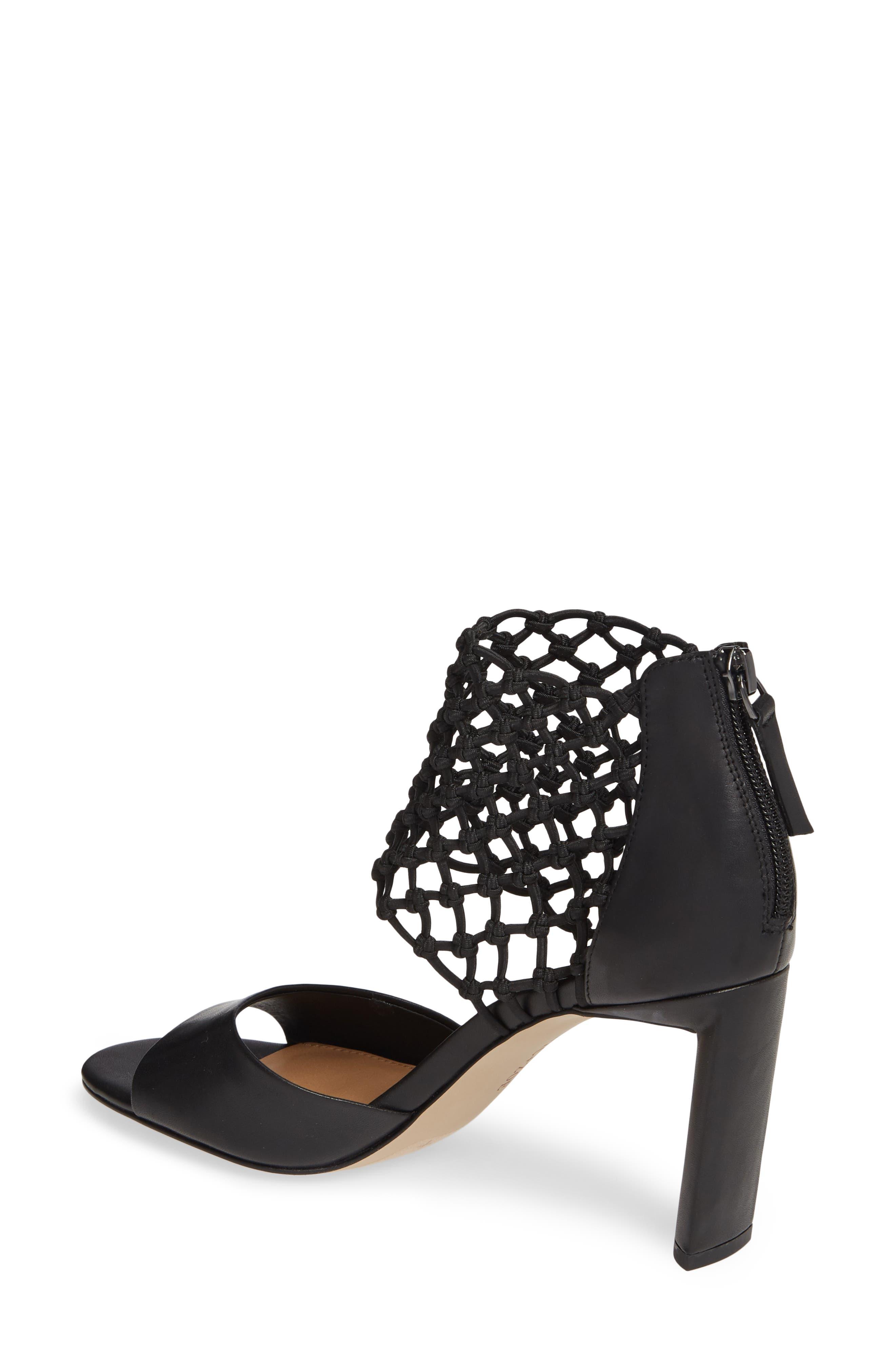 NIC+ZOE, Nobel Net Shield Sandal, Alternate thumbnail 2, color, BLACK LEATHER