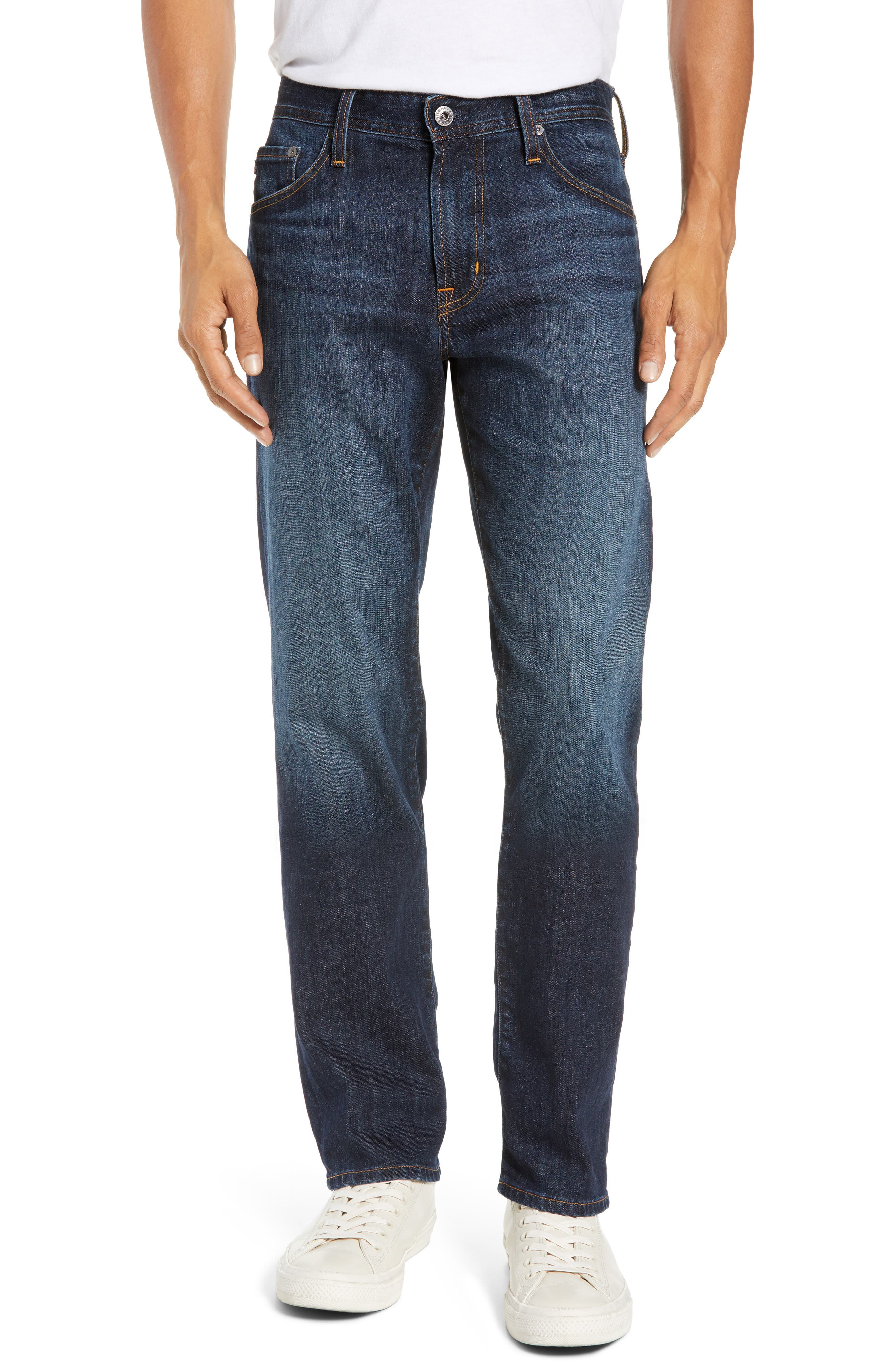 AG, Graduate Slim Straight Leg Jeans, Main thumbnail 1, color, WETHERBURN