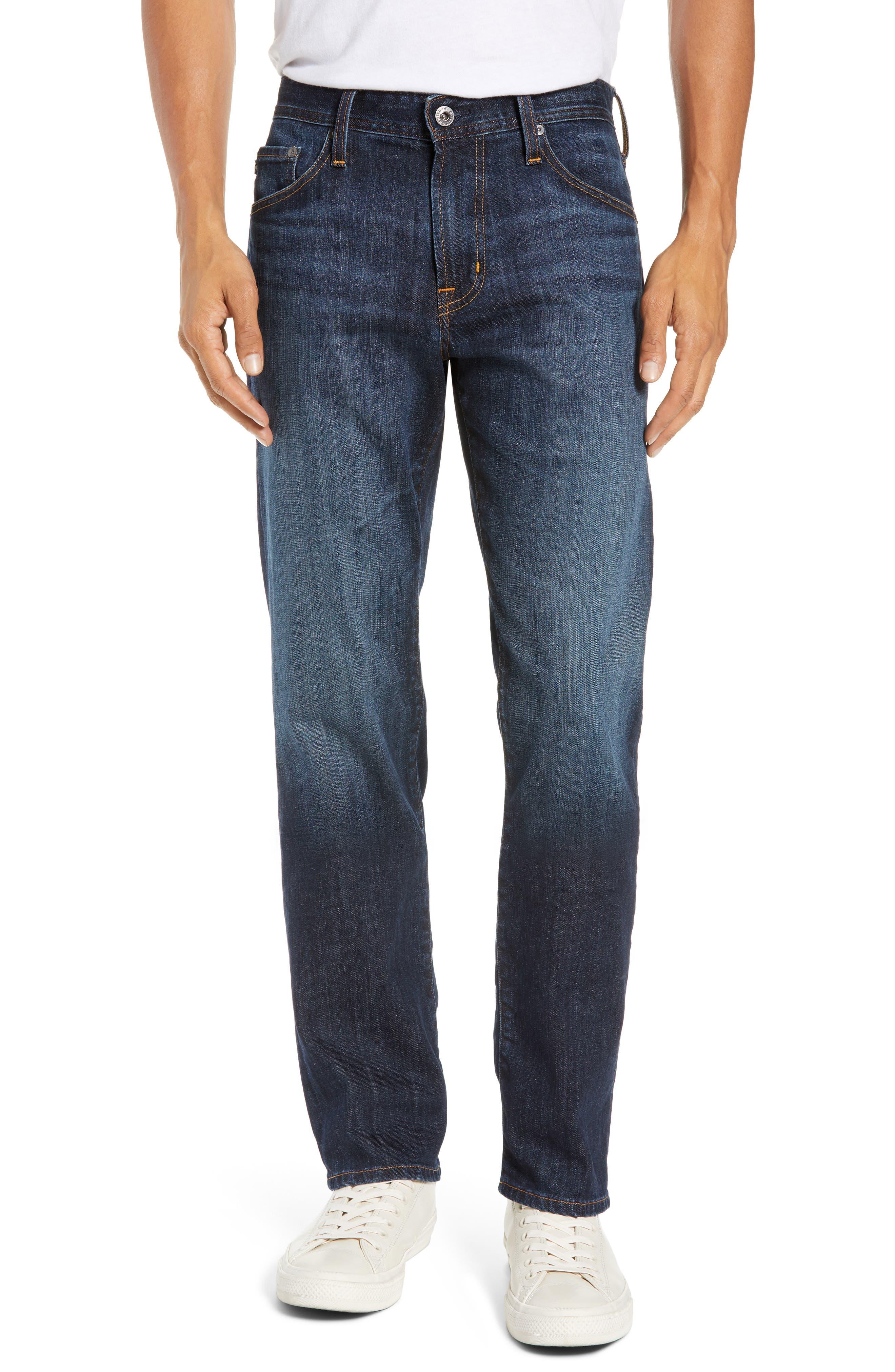 AG Graduate Slim Straight Leg Jeans, Main, color, WETHERBURN