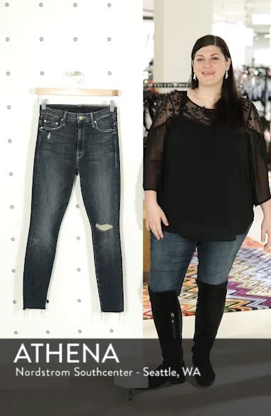 The Looker High Waist Frayed Ankle Skinny Jeans, sales video thumbnail