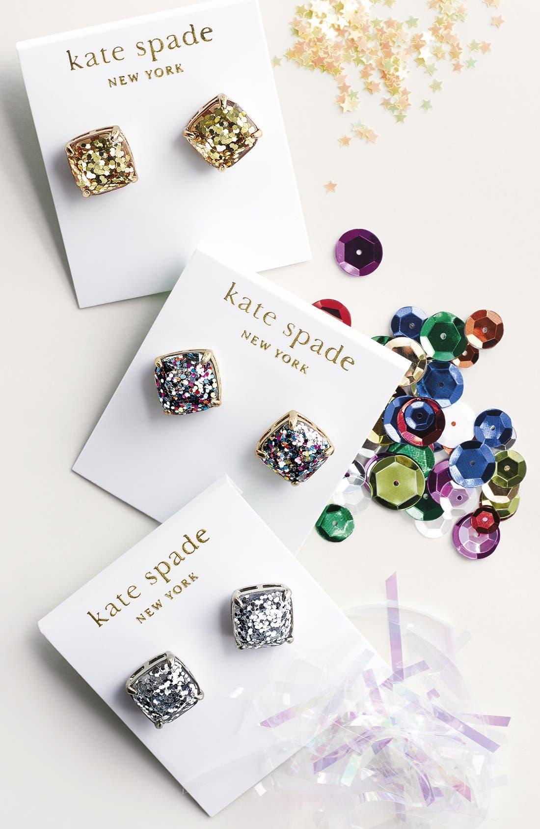 KATE SPADE NEW YORK, glitter stud earrings, Alternate thumbnail 5, color, MULTI GLITTER