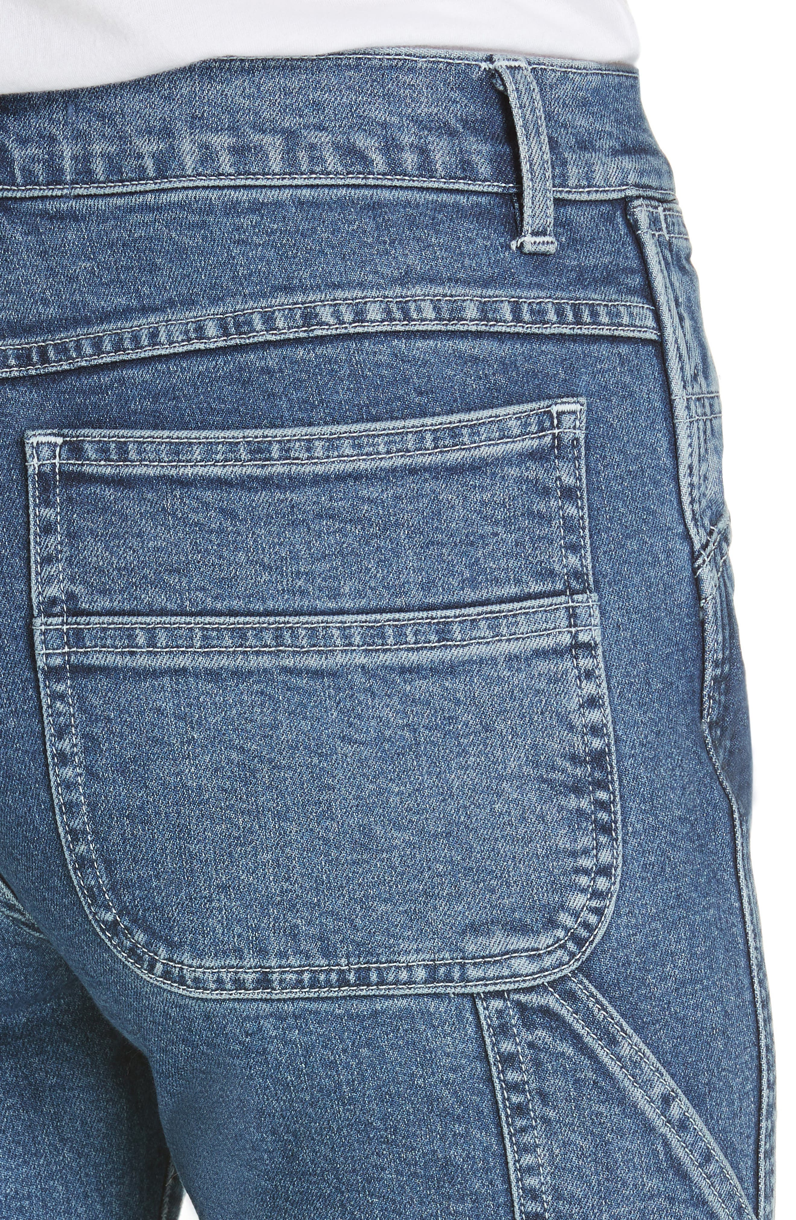 3X1 NYC, Rose Ankle Carpenter Jeans, Alternate thumbnail 5, color, HESTER