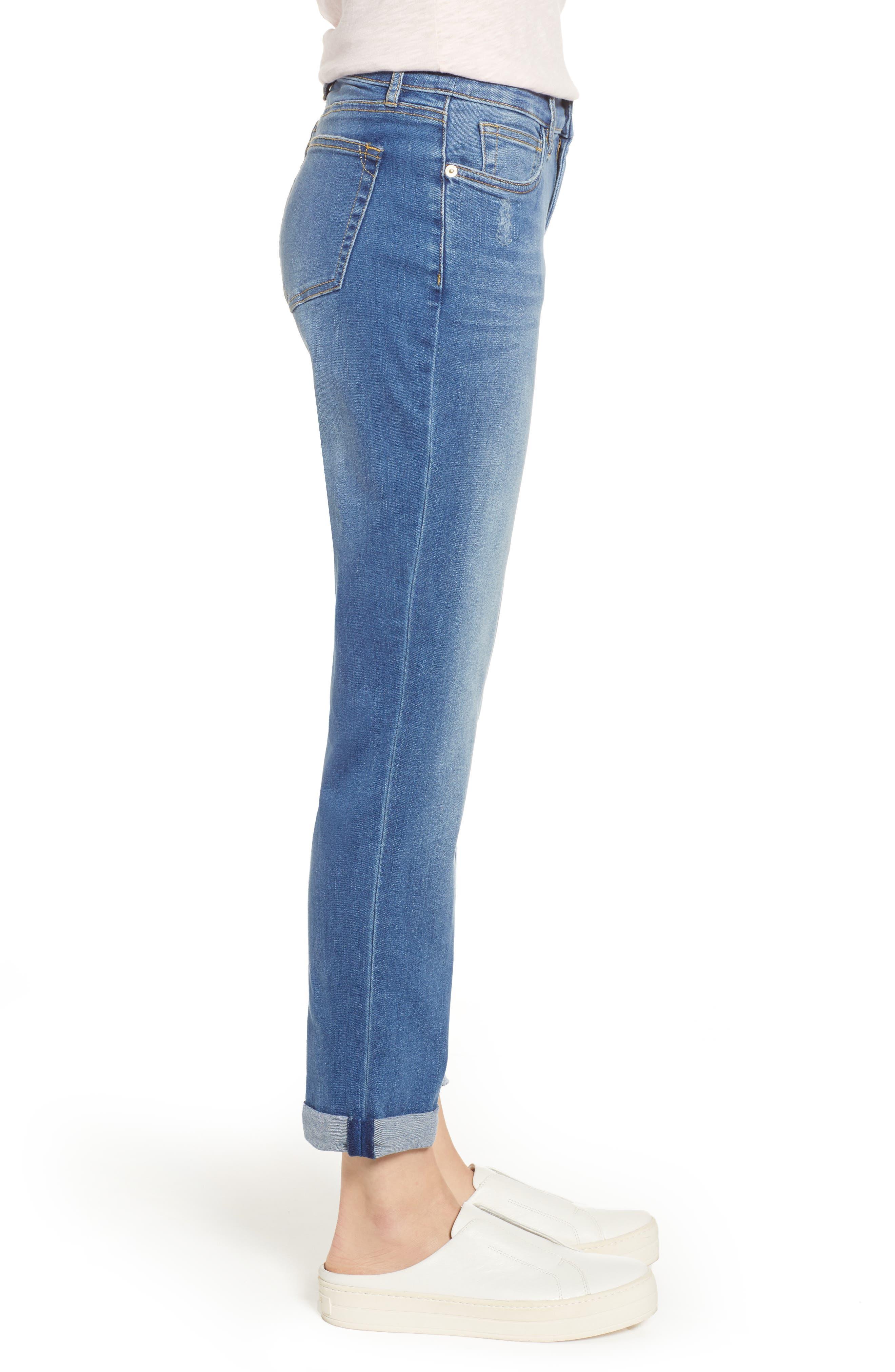 TOMMY BAHAMA, Tema Slim Boyfriend Jeans, Alternate thumbnail 4, color, DARK INDIGO WASH