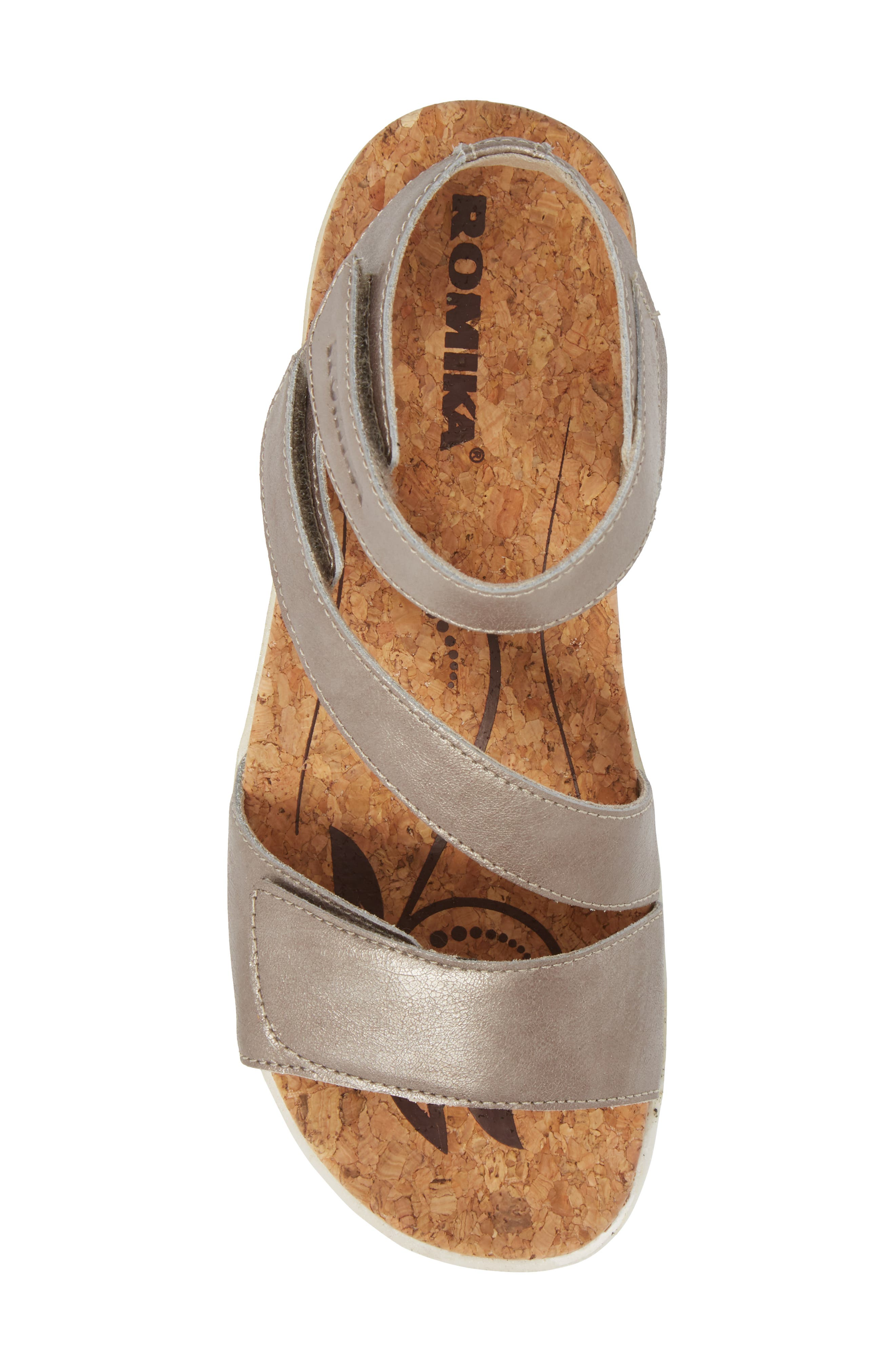 ROMIKA<SUP>®</SUP>, Hollywood 04 Sandal, Alternate thumbnail 5, color, PLATINUM LEATHER