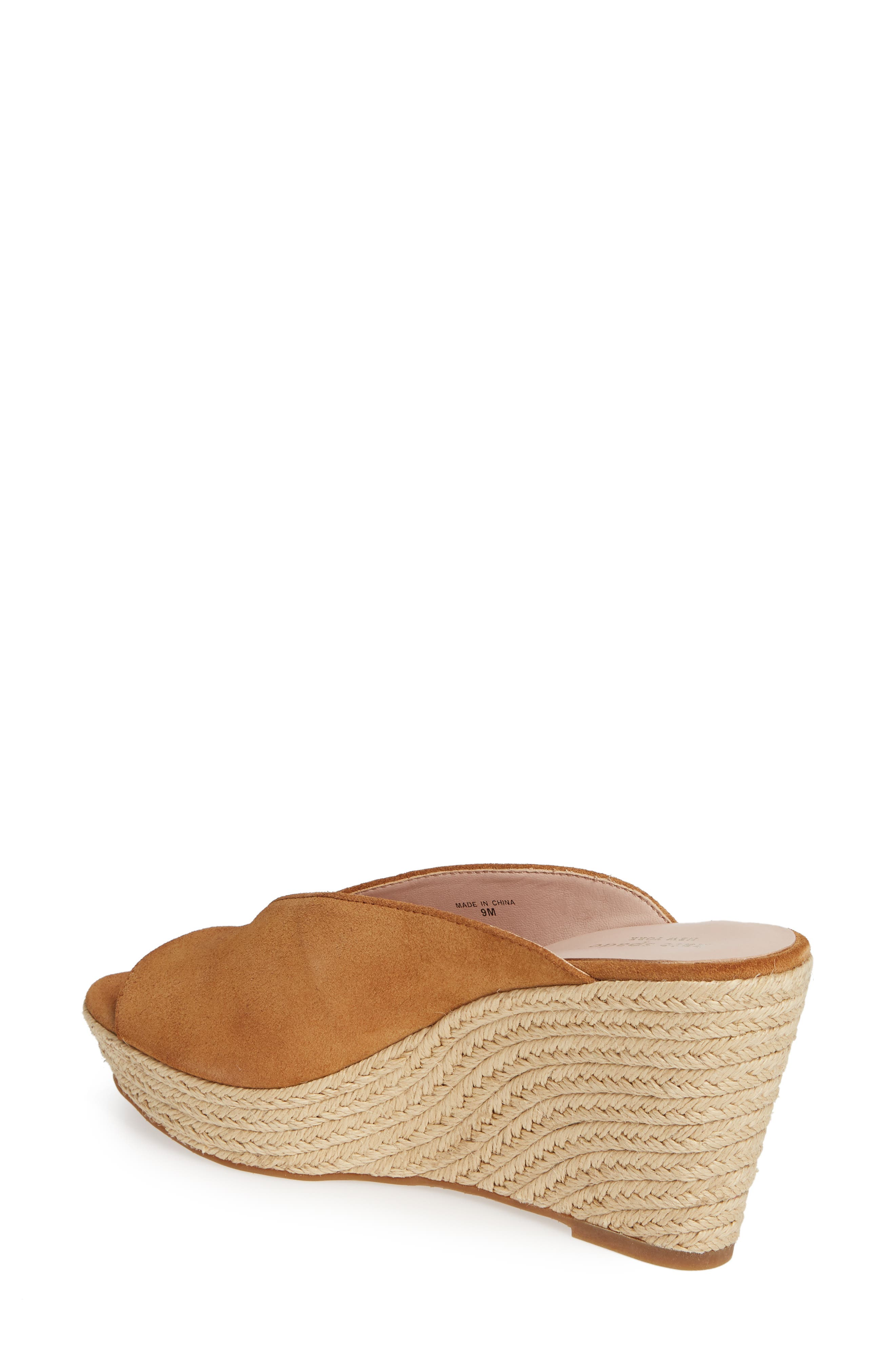 KATE SPADE NEW YORK, thea wedge espadrille mule, Alternate thumbnail 2, color, TOAST