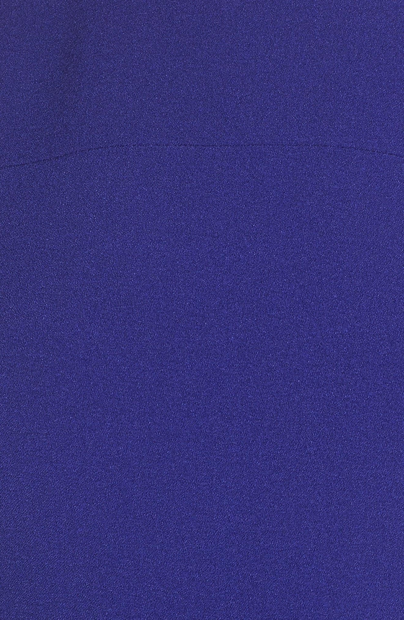 VINCE CAMUTO, Kors Crepe Jumpsuit, Alternate thumbnail 6, color, COBALT