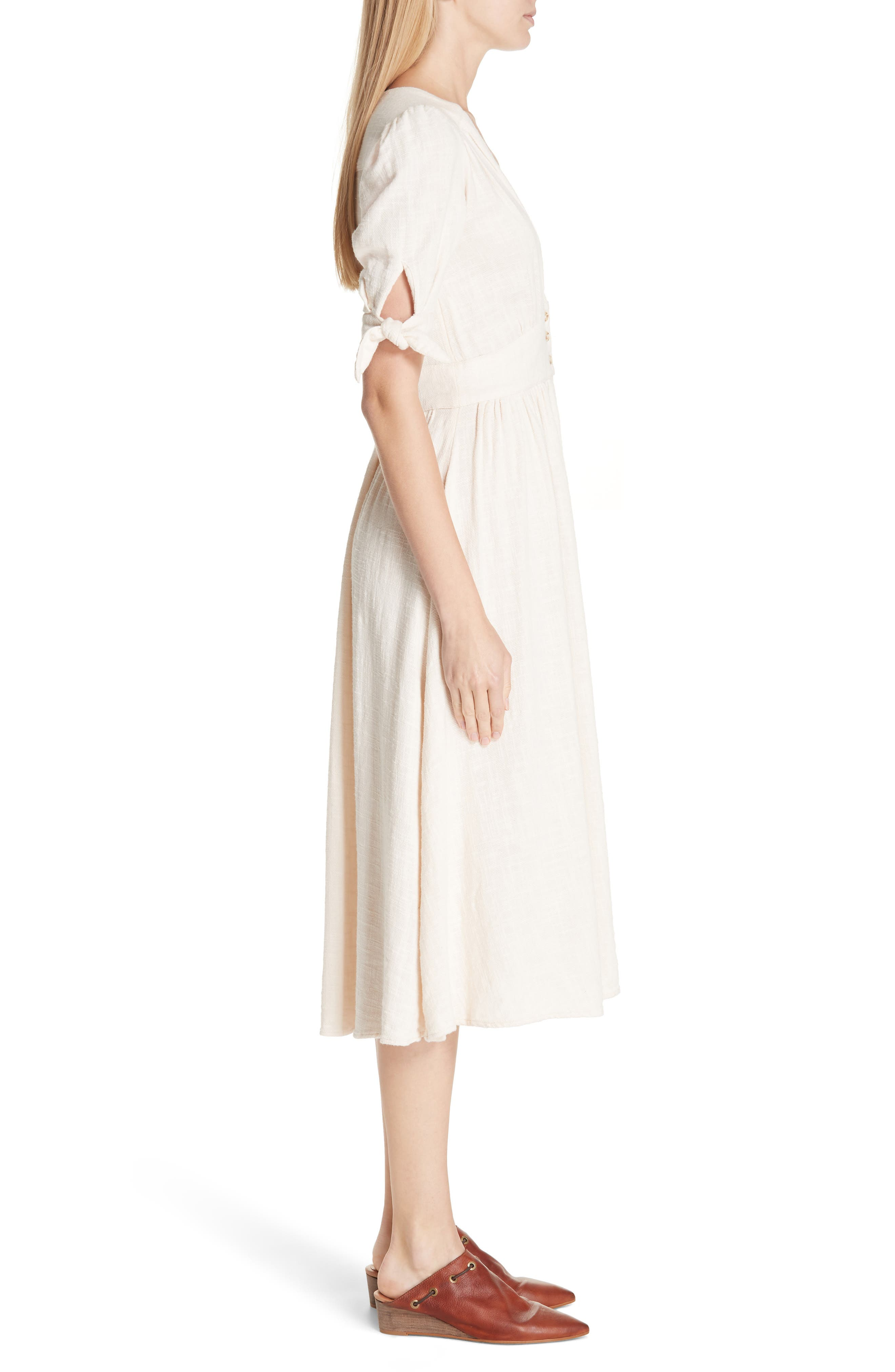FREE PEOPLE, Love of My Life Midi Dress, Alternate thumbnail 4, color, IVORY