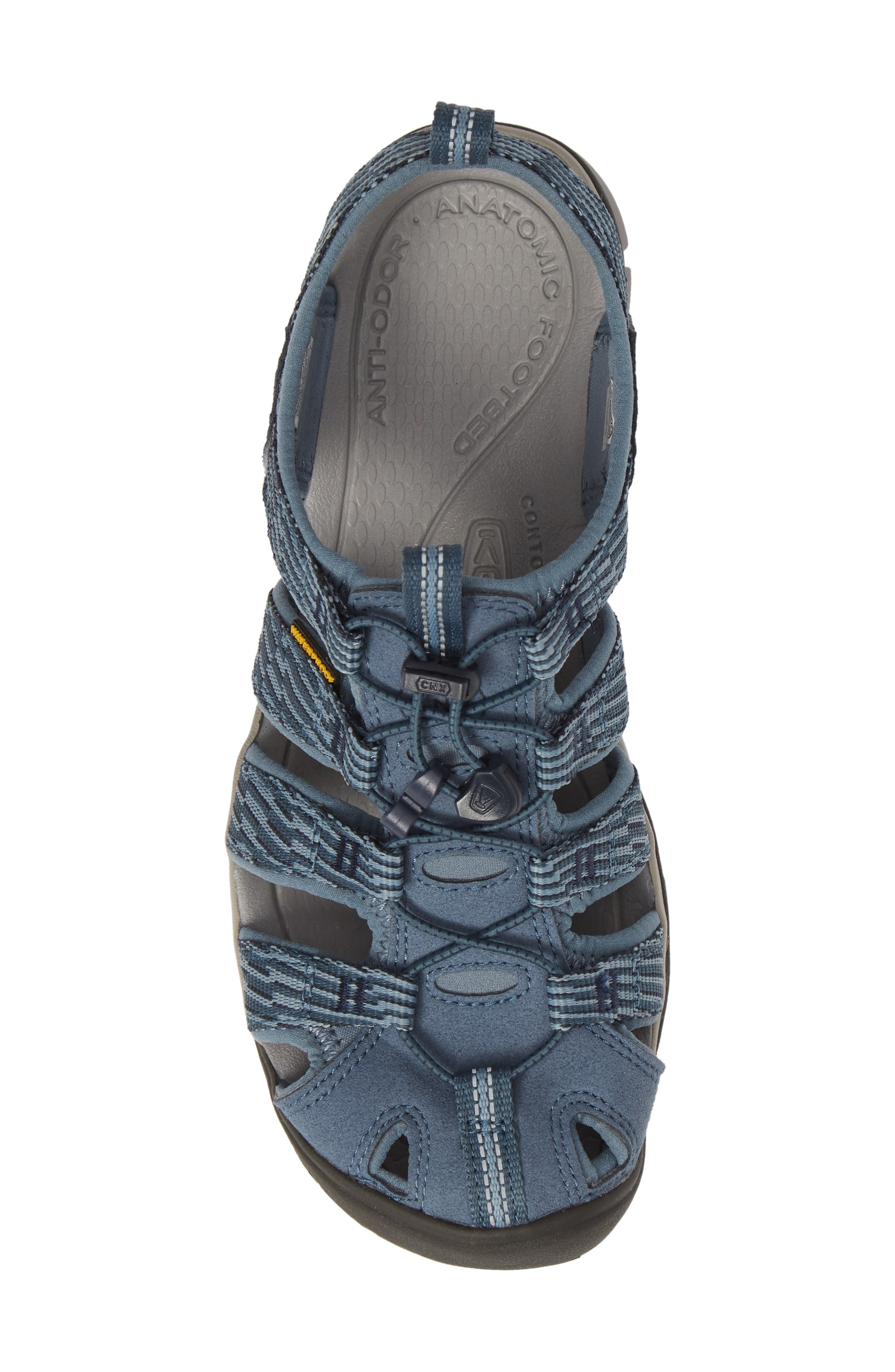 KEEN, 'Clearwater CNX' Sandal, Alternate thumbnail 5, color, BLUE MIRAGE/ CITADEL FABRIC