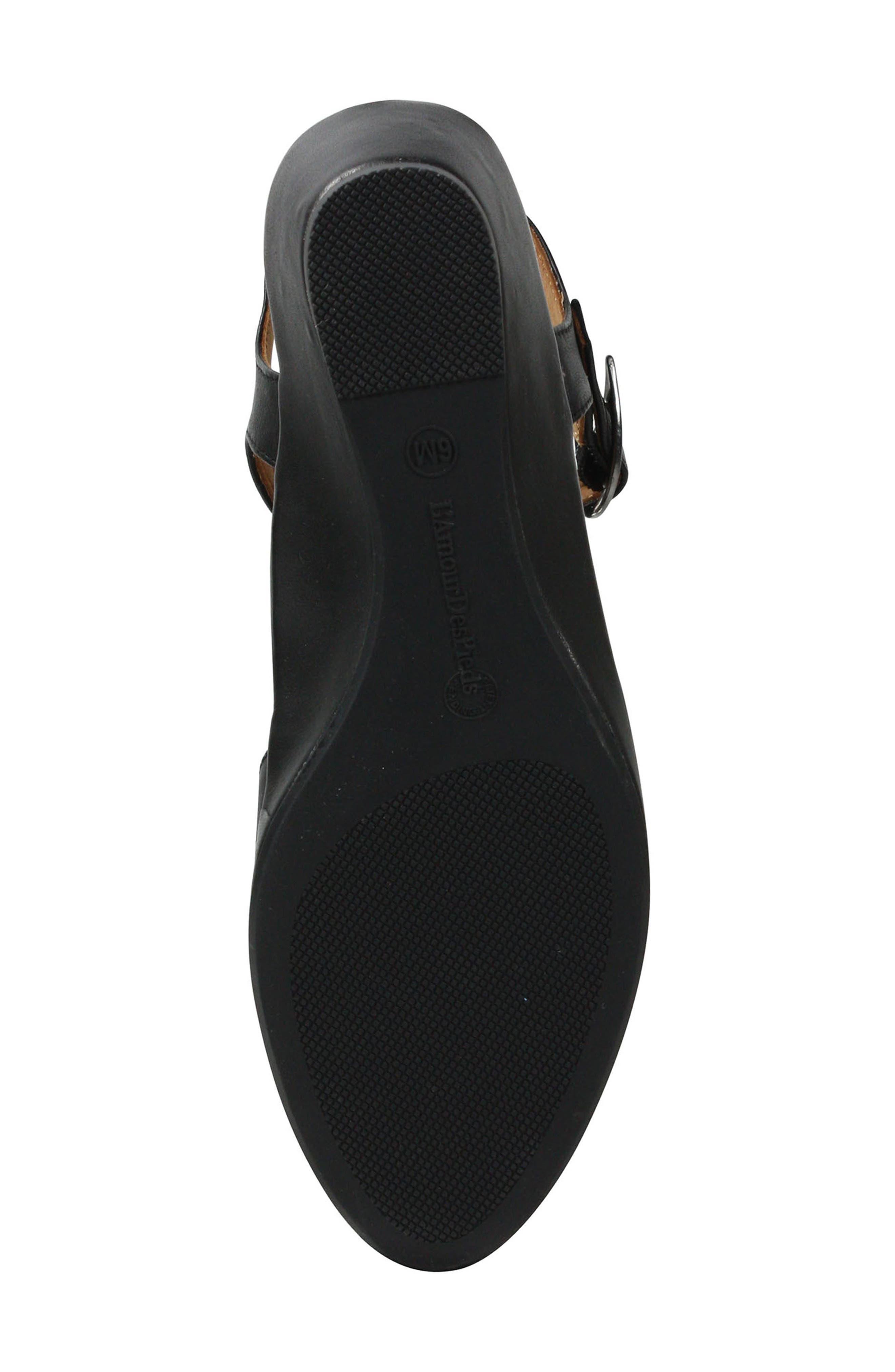 L'AMOUR DES PIEDS, Boquin Sandal, Alternate thumbnail 5, color, BLACK LEATHER