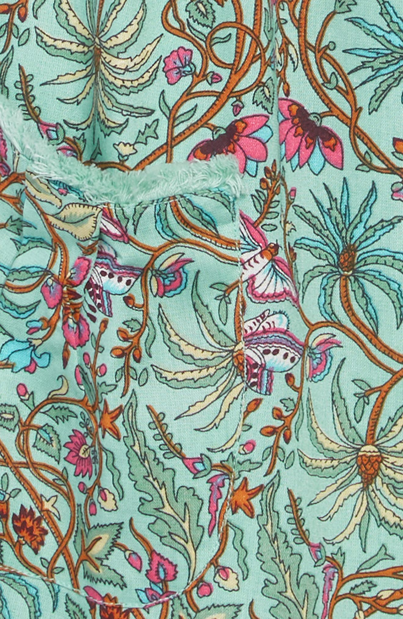 PEEK AREN'T YOU CURIOUS, Octavia Print Dress, Alternate thumbnail 3, color, GREEN