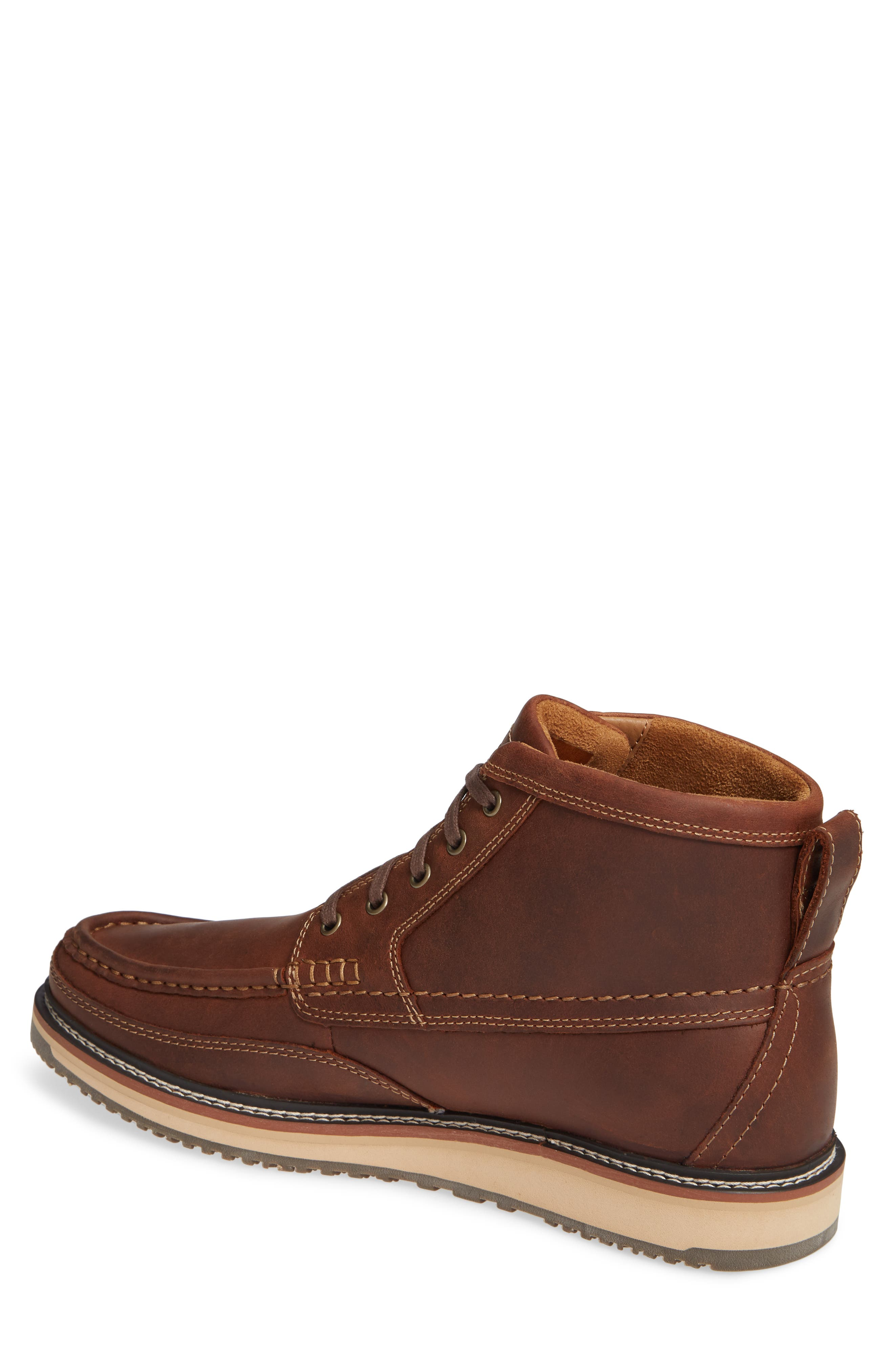 ARIAT, 'Lookout' Moc Toe Boot, Alternate thumbnail 2, color, FOOTHILL BROWN LEATHER