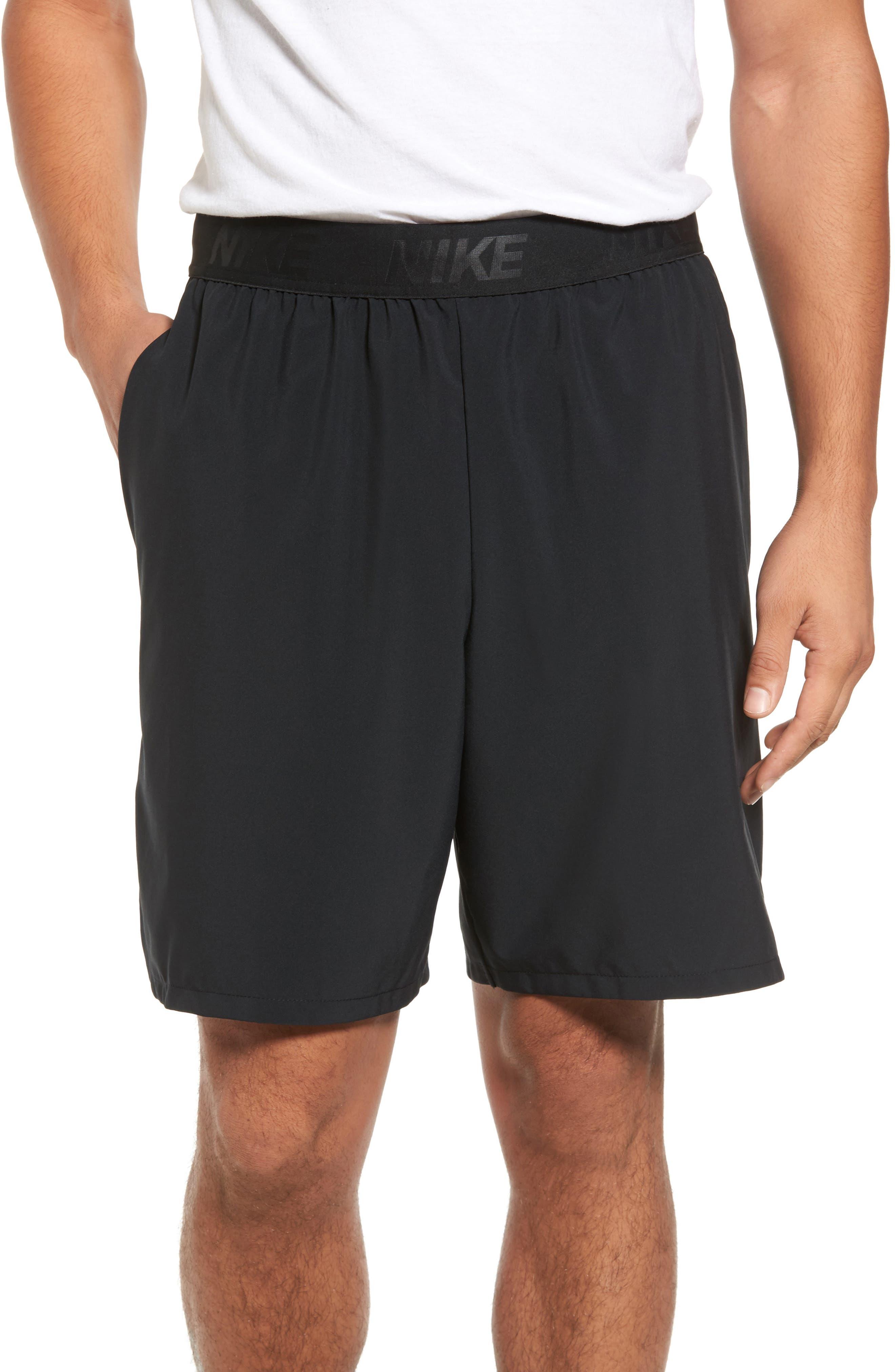 NIKE, Flex Vent Max Shorts, Main thumbnail 1, color, BLACK/ METALLIC HEMATITE