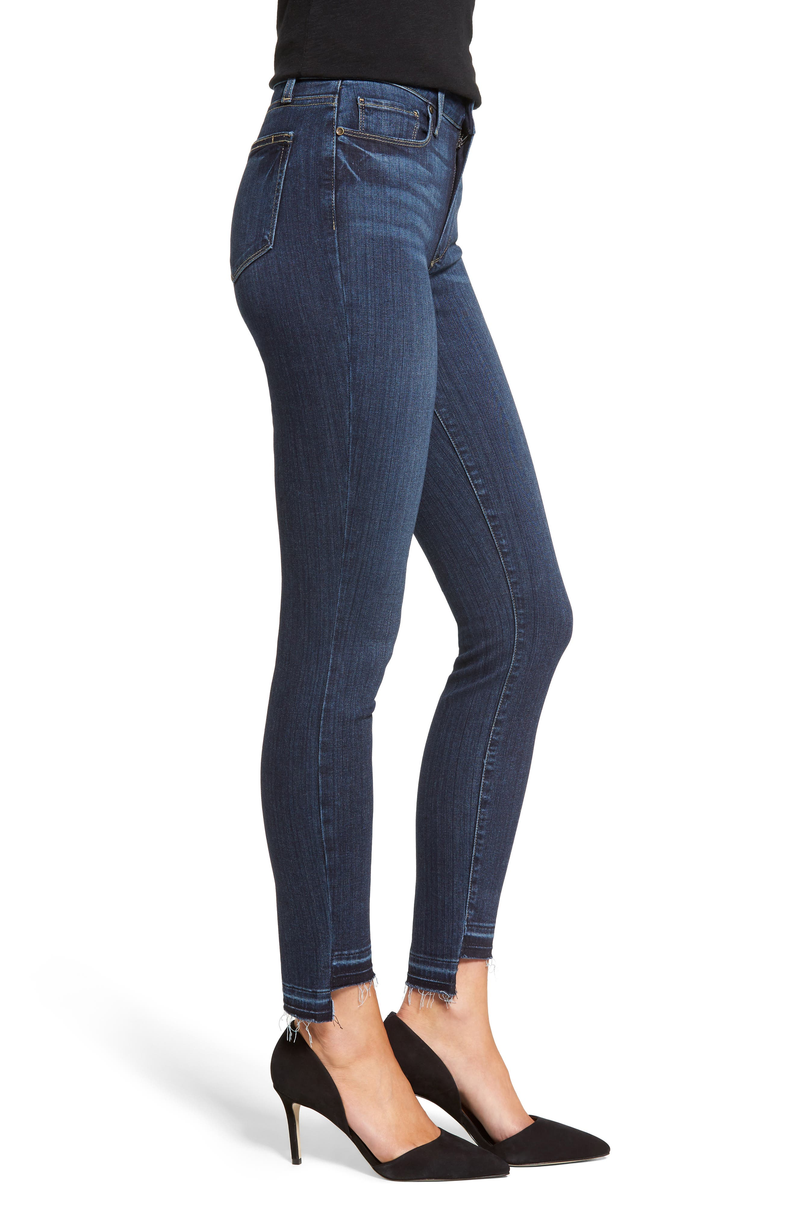 PAIGE, Hoxton High Waist Skinny Jeans, Alternate thumbnail 3, color, 400
