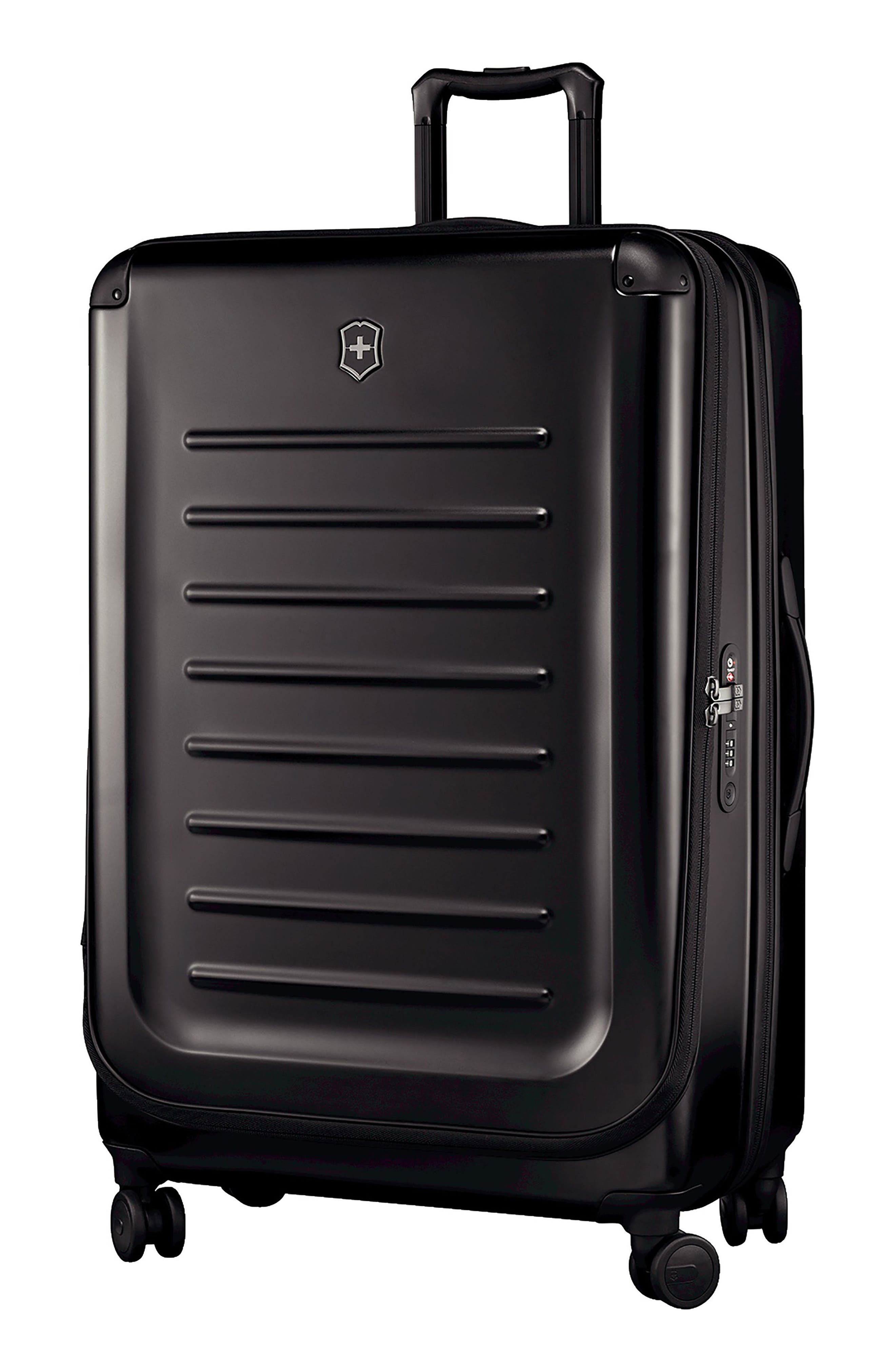 VICTORINOX SWISS ARMY<SUP>®</SUP>, Spectra 2.0 32 Inch Hard Sided Rolling Travel Suitcase, Main thumbnail 1, color, BLACK
