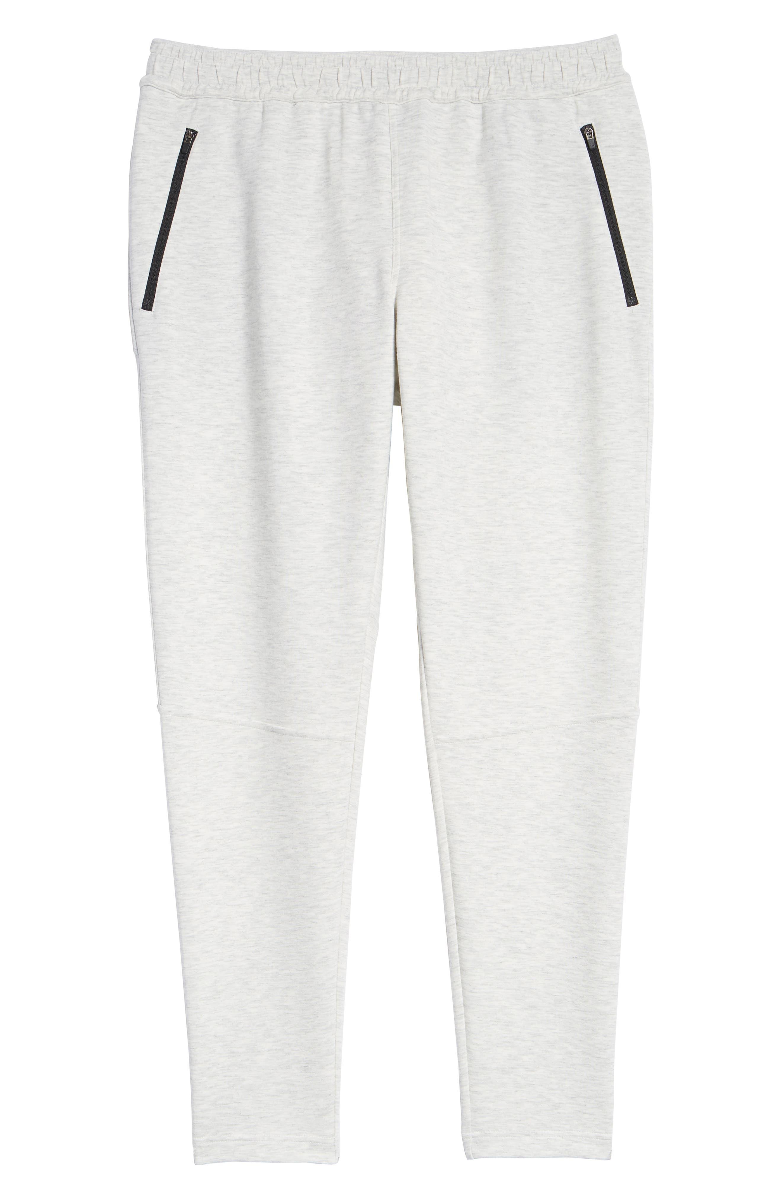 ZELLA, Zip Pocket Tech Jogger Pants, Alternate thumbnail 7, color, WHITE OXIDE MELANGE