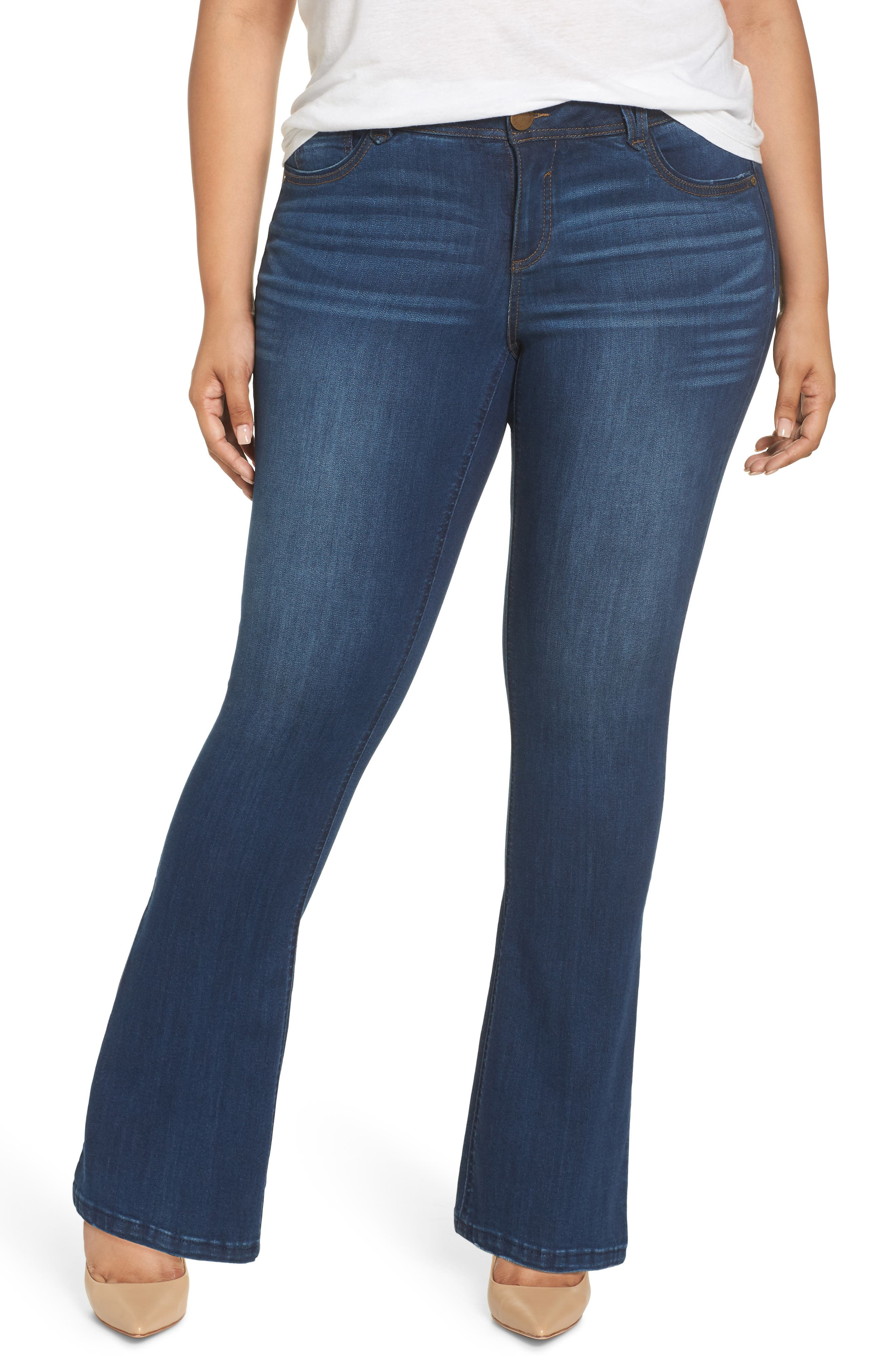 WIT & WISDOM, Ab-Solution Itty Bitty Bootcut Jeans, Main thumbnail 1, color, BLUE