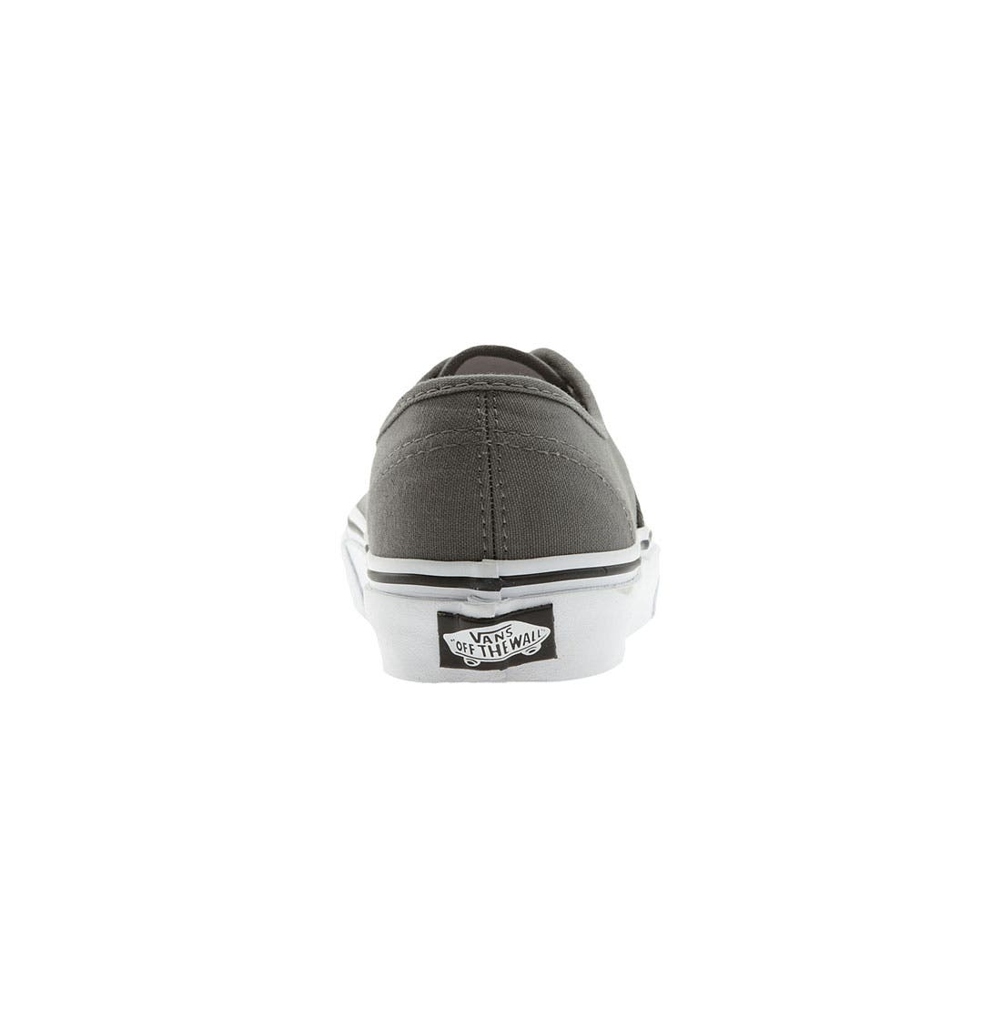 VANS, 'Authentic' Sneaker, Alternate thumbnail 10, color, PEWTER/BLACK