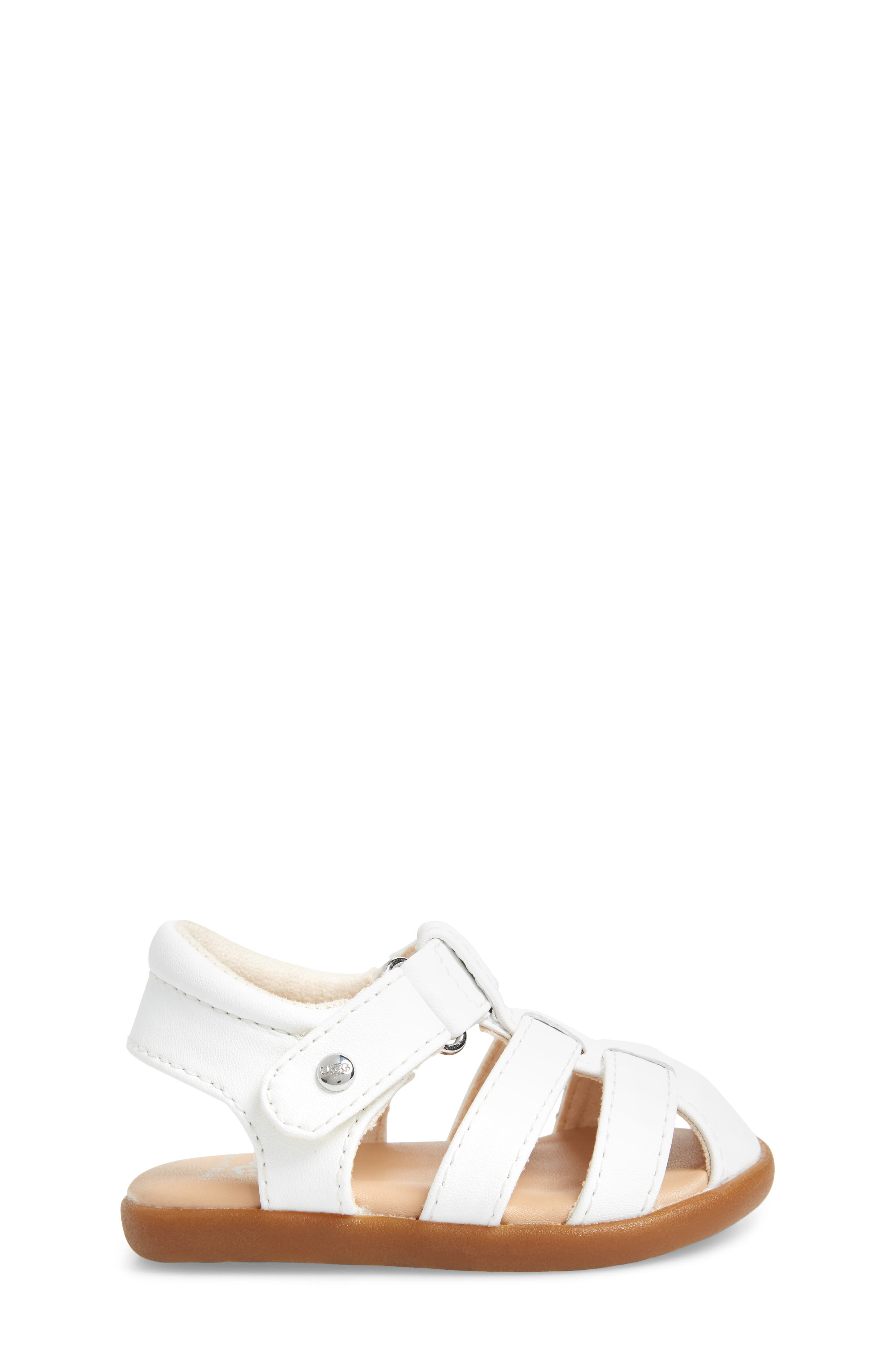 UGG<SUP>®</SUP>, Kolding Fisherman Sandal, Alternate thumbnail 3, color, WHITE