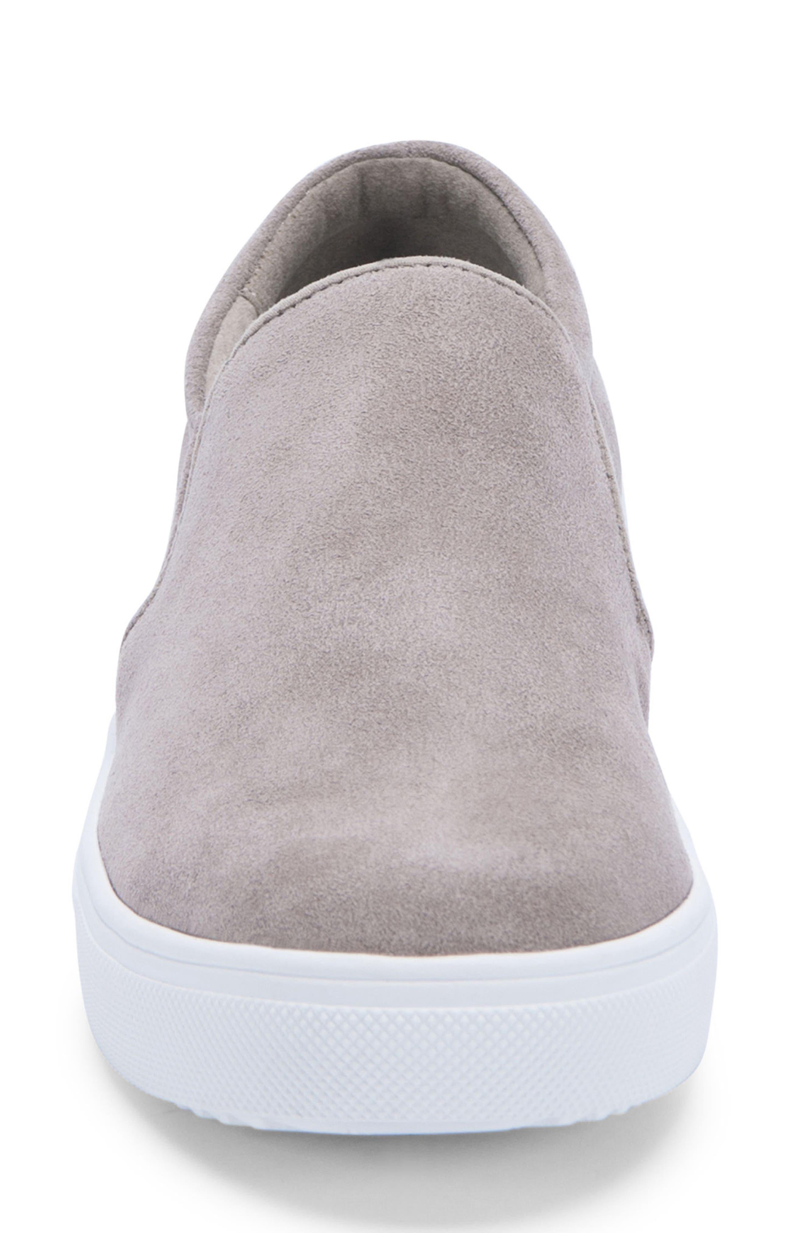 BLONDO, Gracie Waterproof Slip-On Sneaker, Alternate thumbnail 4, color, MUSHROOM SUEDE