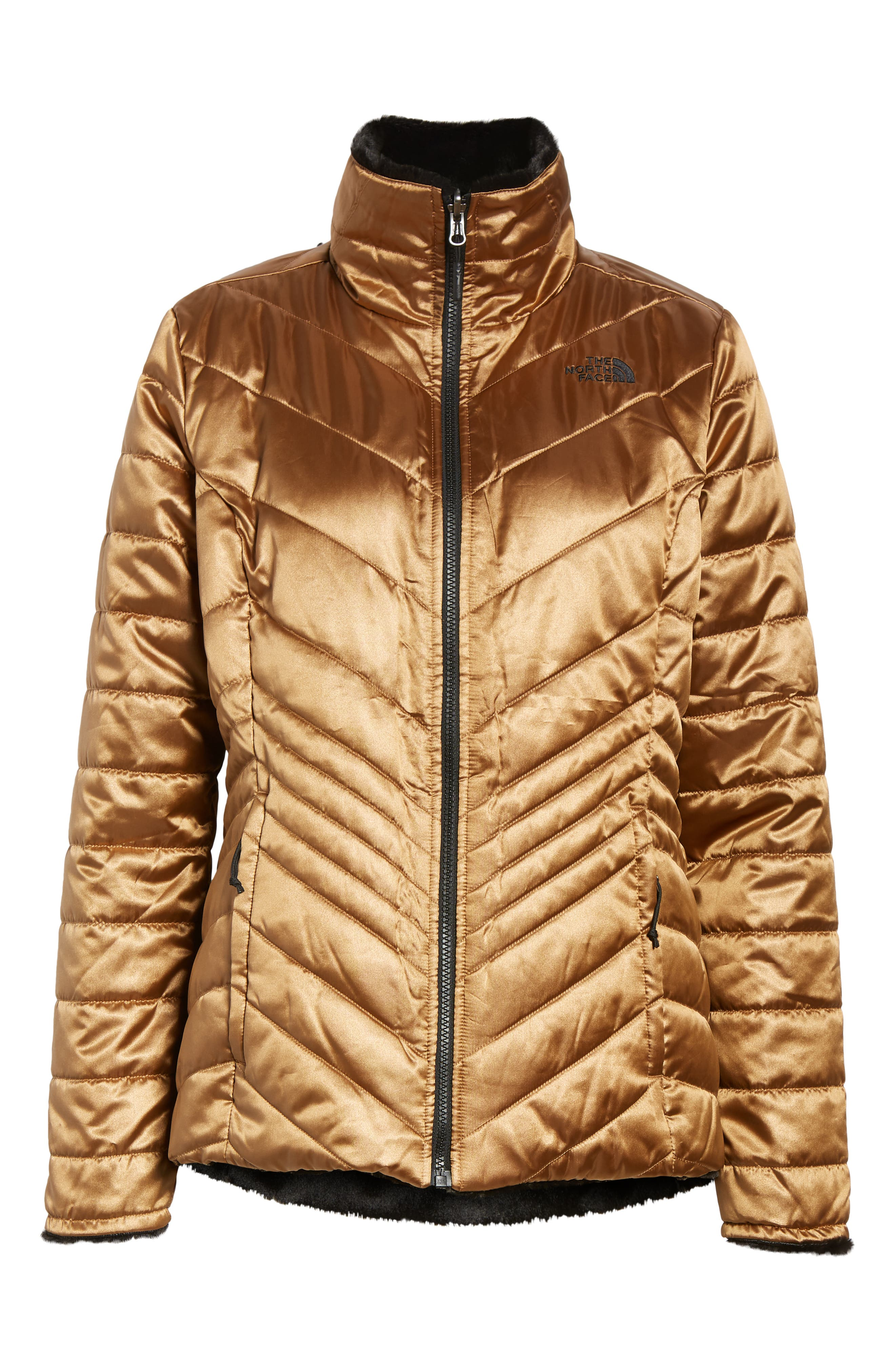THE NORTH FACE, Mossbud Reversible Heatseeker<sup>™</sup> Wind Resistant Jacket, Alternate thumbnail 7, color, METALLIC COPPER/ TNF BLACK