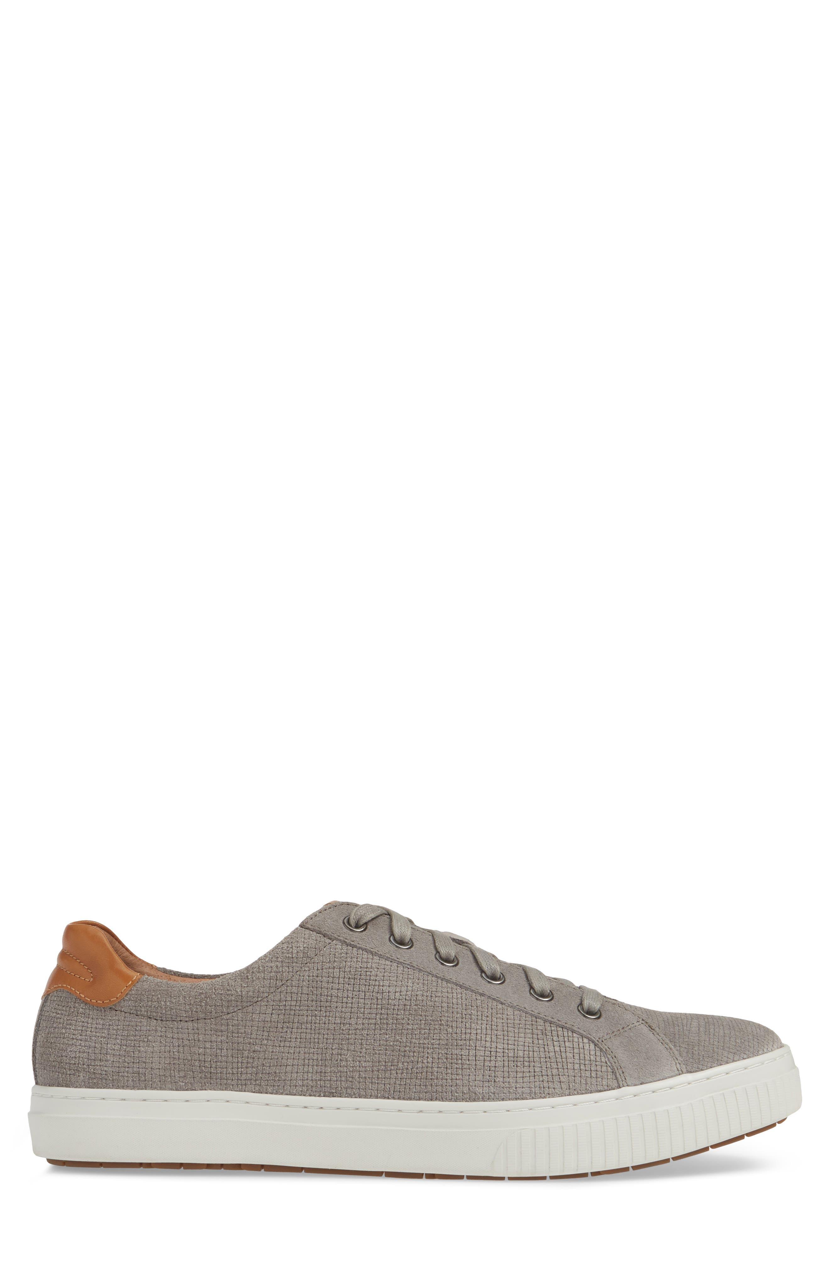 J&M 1850, Toliver Low Top Sneaker, Alternate thumbnail 3, color, GREY SUEDE