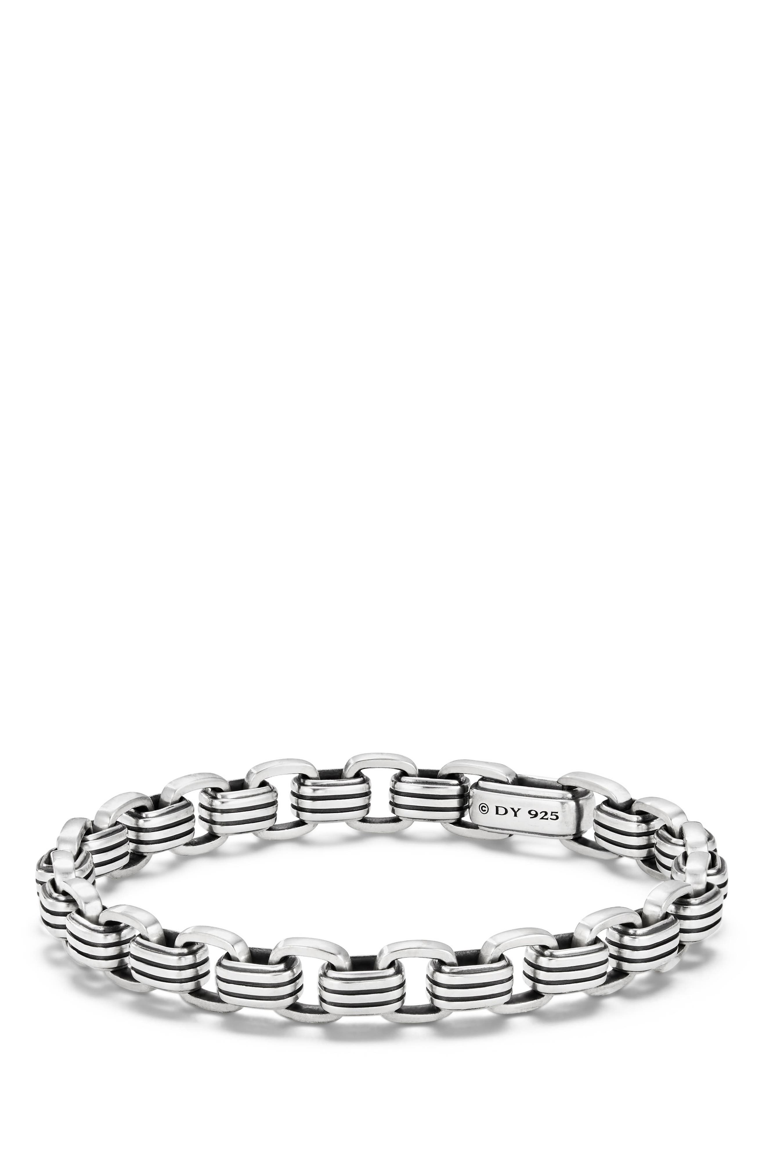 DAVID YURMAN Southwest Link Bracelet, Main, color, SILVER