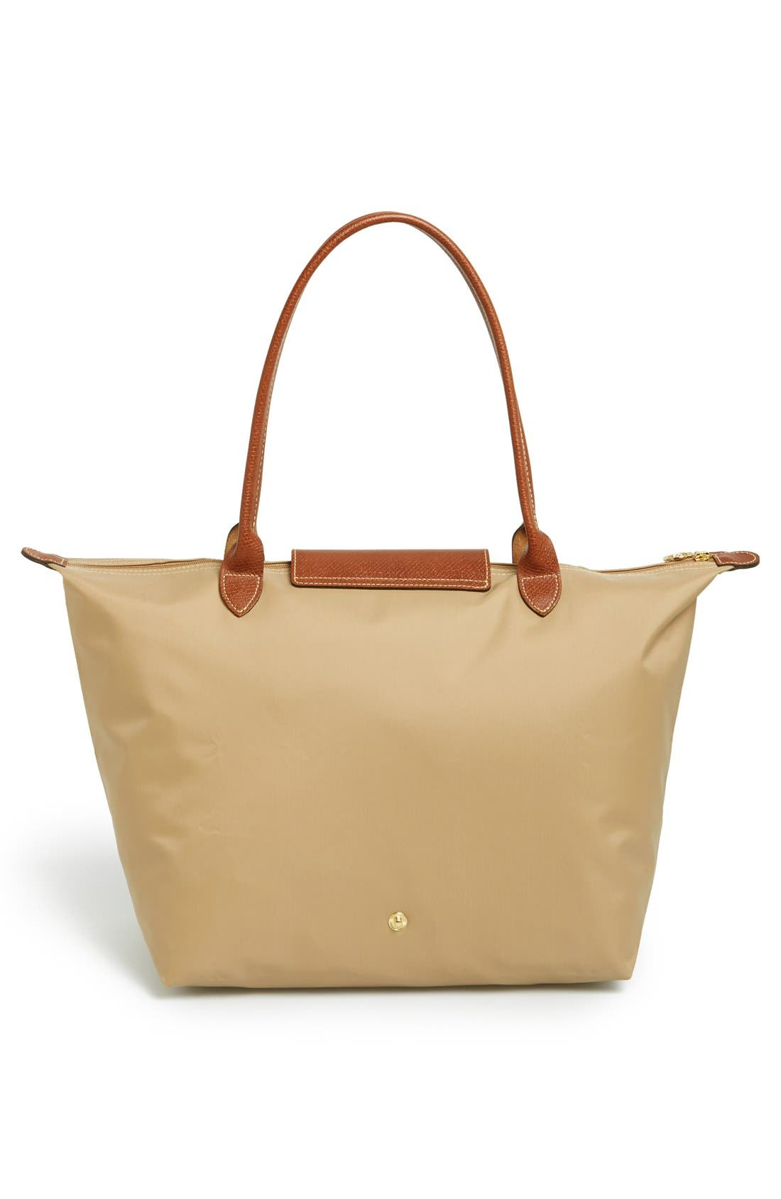 LONGCHAMP, Large Le Pliage Tote, Alternate thumbnail 4, color, BEIGE