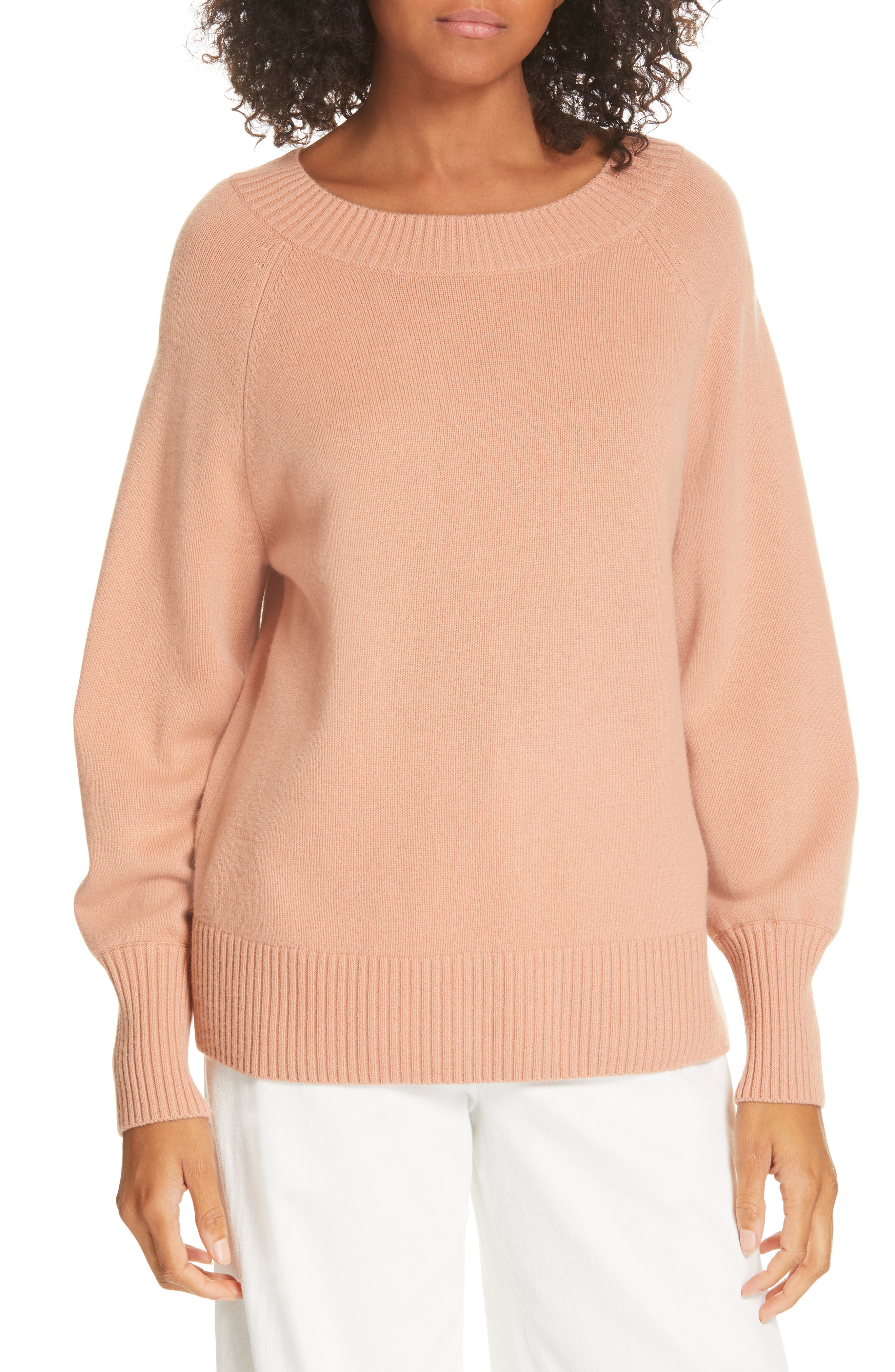 Vince Full Sleeve Wool & Cashmere Sweater, Pink