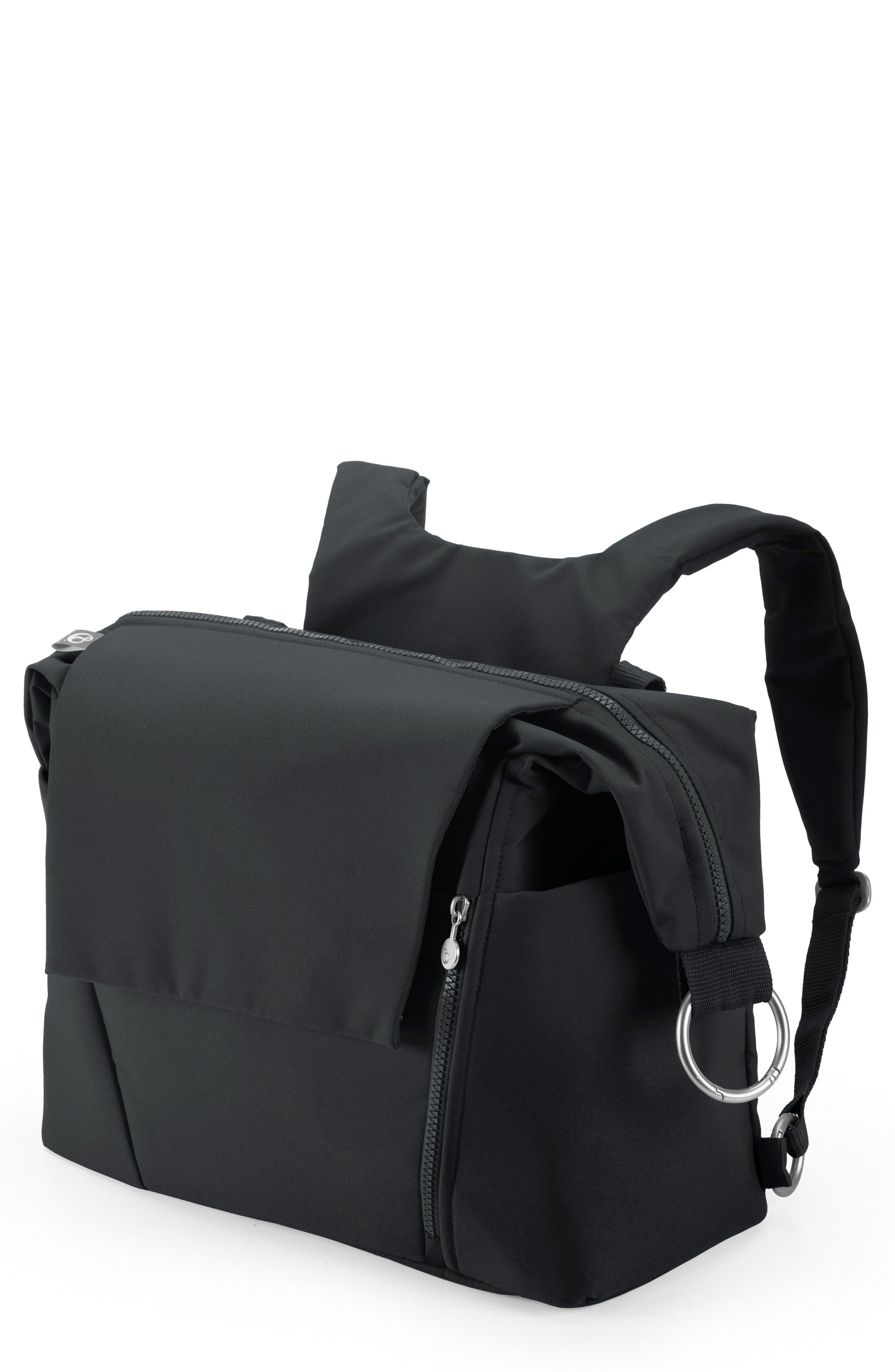 STOKKE Diaper Bag, Main, color, BLACK