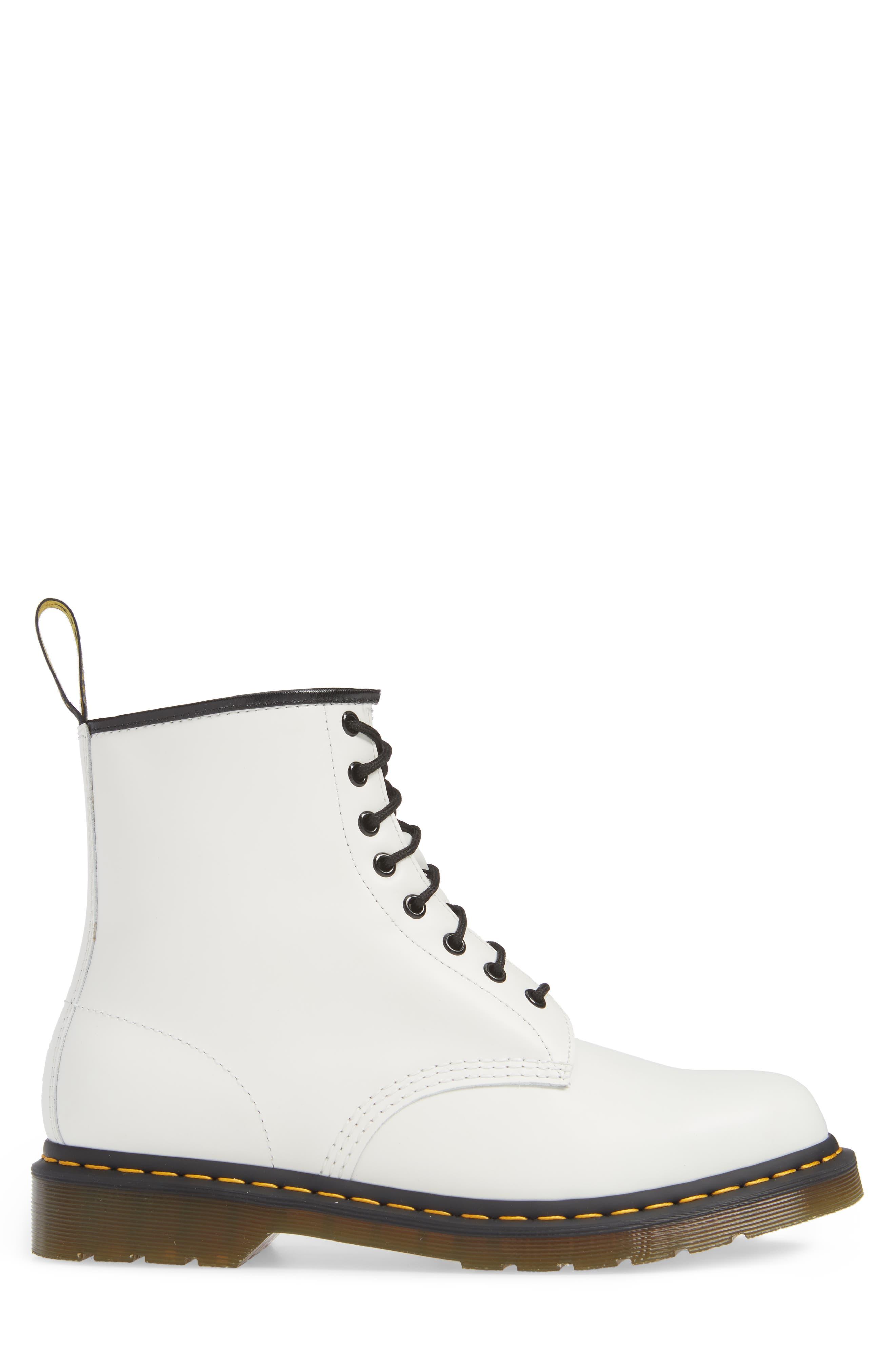 DR. MARTENS, '1460' Boot, Alternate thumbnail 3, color, WHITE