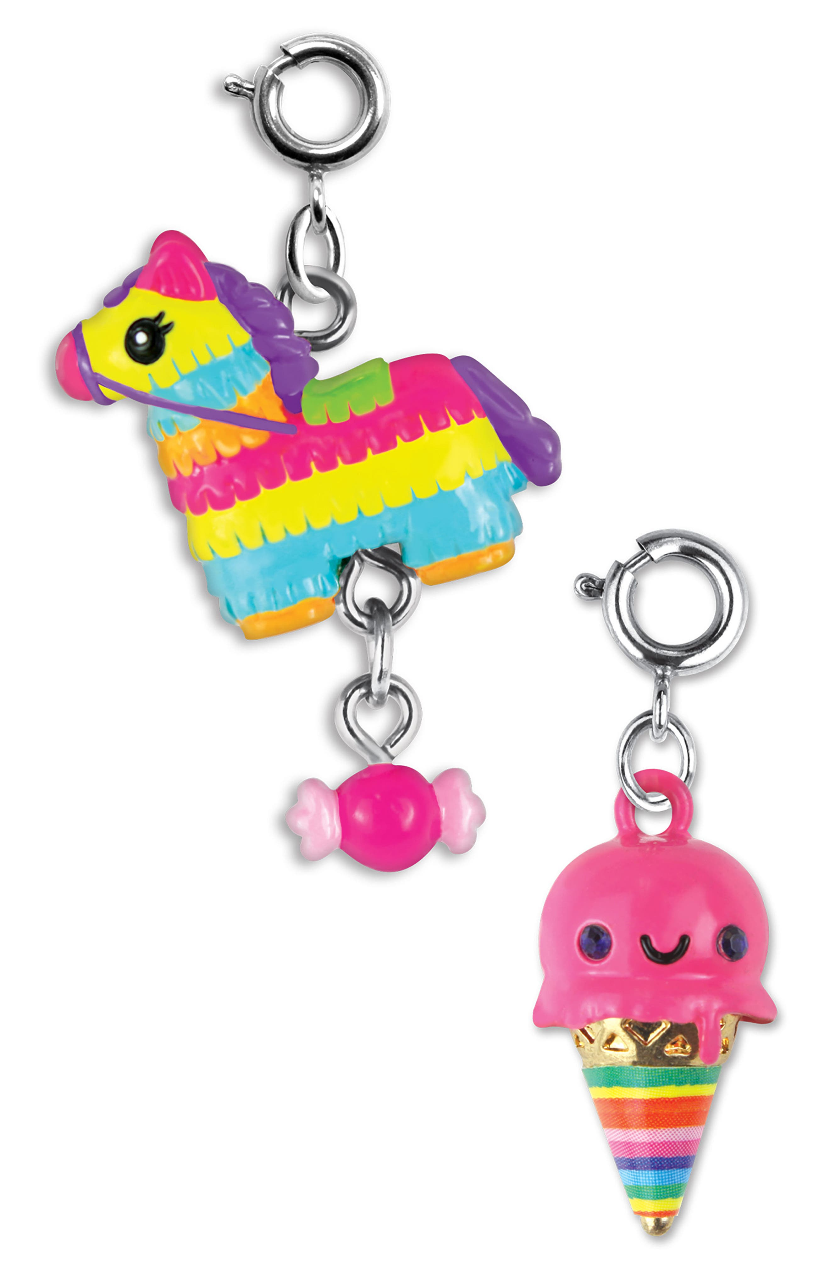 HIGH INTENCITY, CHARM IT!<sup>®</sup> 2-Pack Piñata & Ice Cream Cone Charms, Main thumbnail 1, color, 100