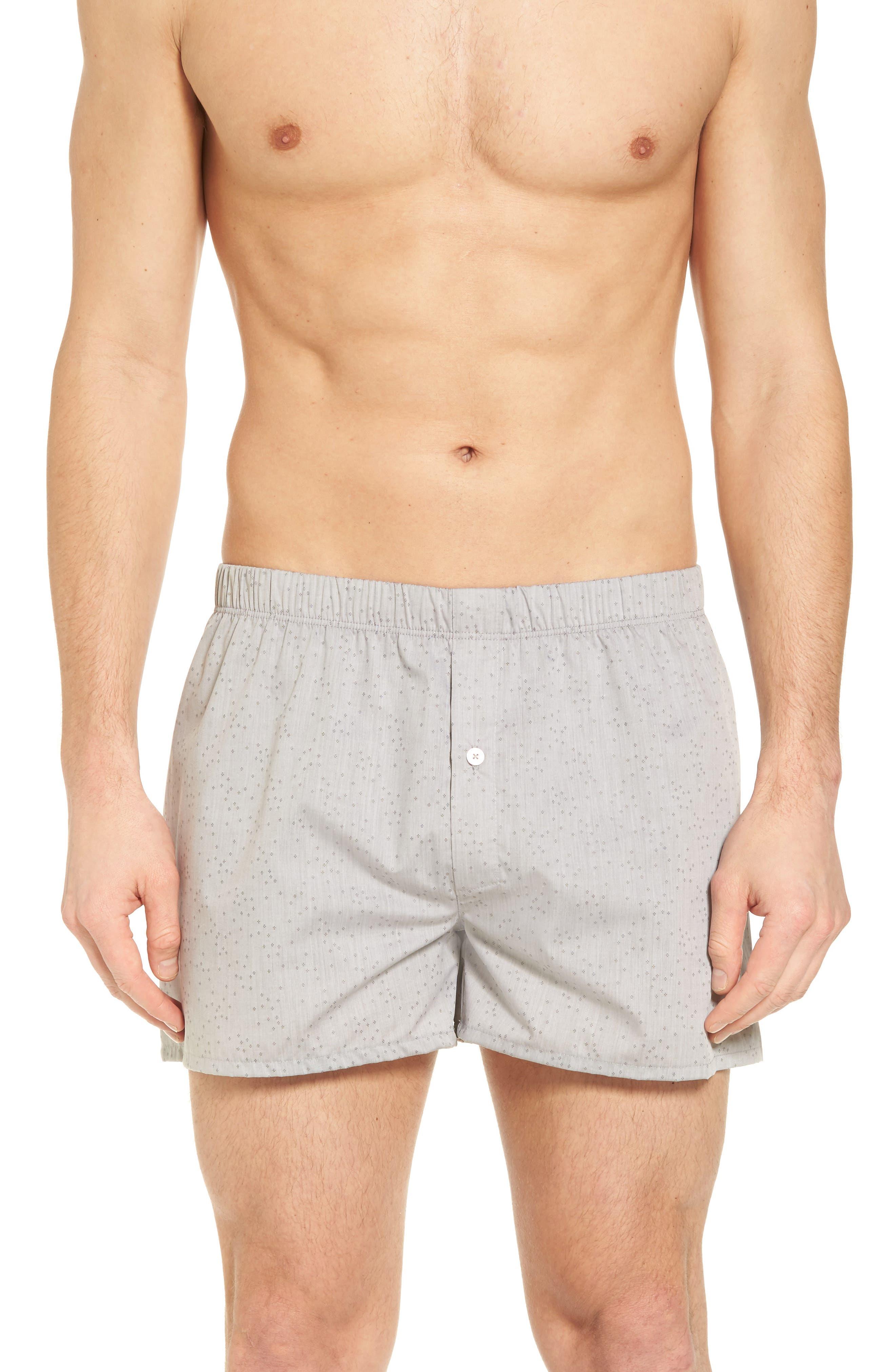 HANRO Fancy Cotton Boxers, Main, color, MINIMAL STRUCTURE