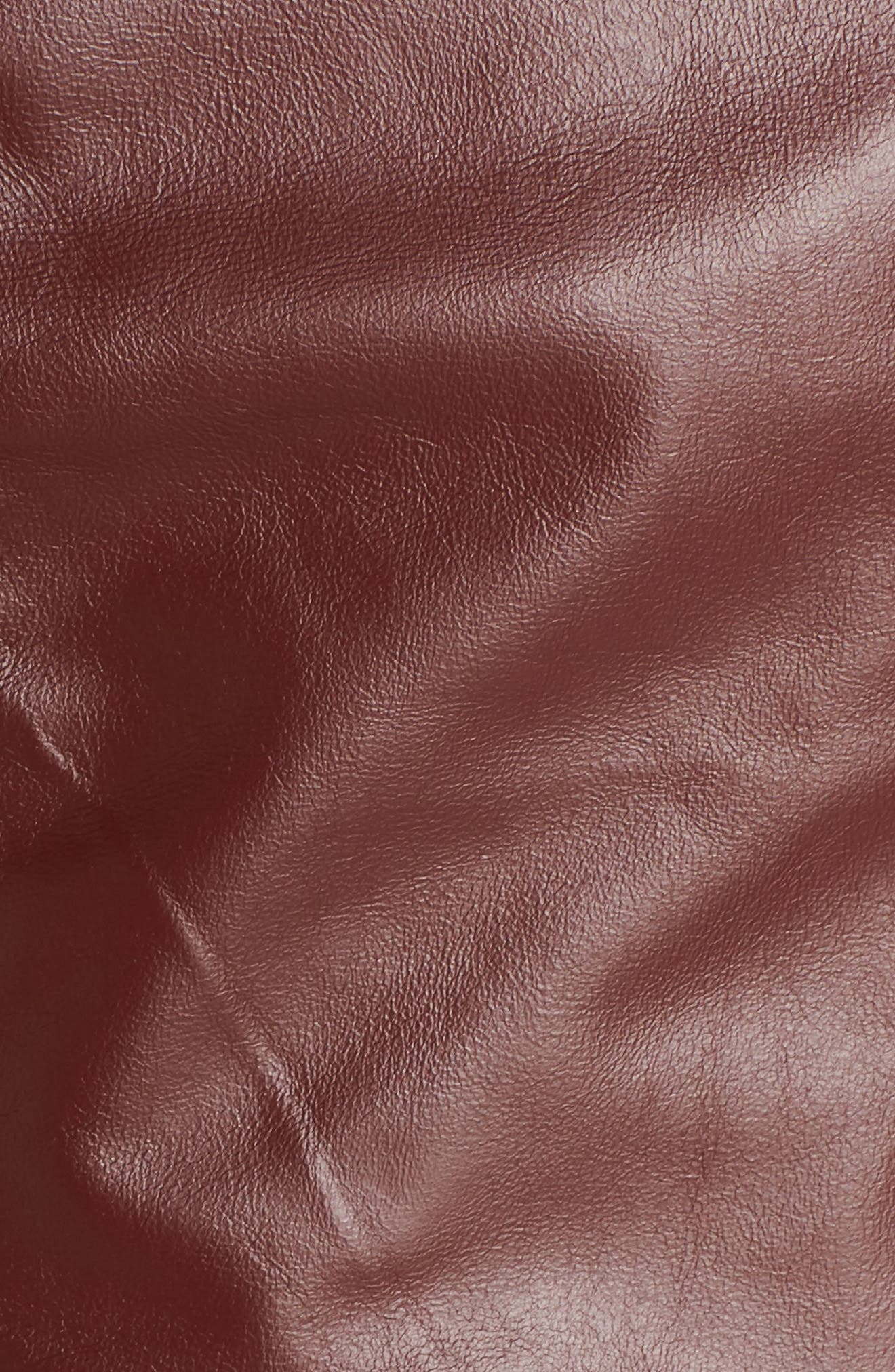 BLANC NOIR, Voyage Hooded Leather & Mesh Moto Jacket, Alternate thumbnail 7, color, 601