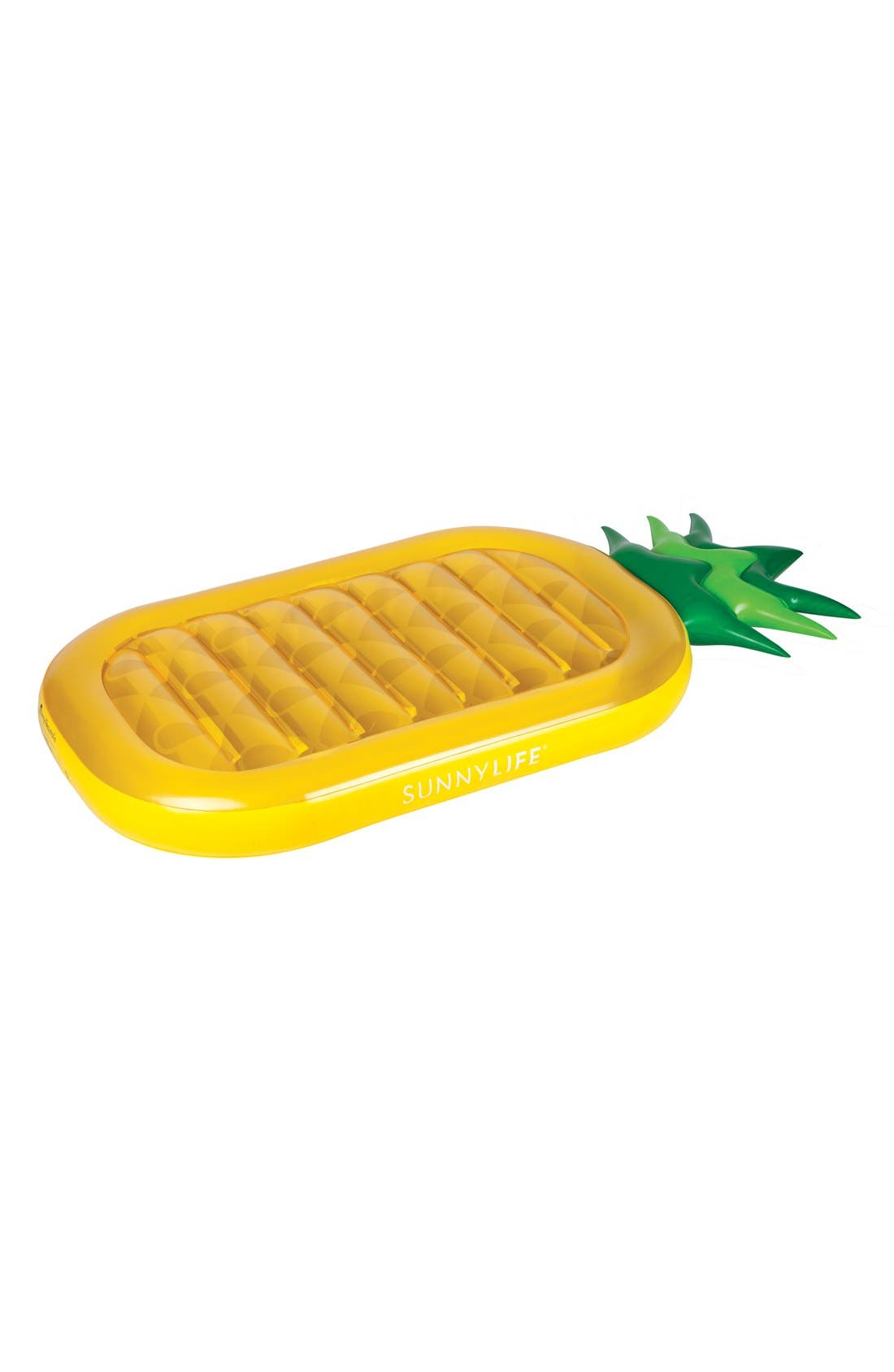 SUNNYLIFE, 'Really Big' Inflatable Pineapple Pool Floatie, Alternate thumbnail 3, color, 700