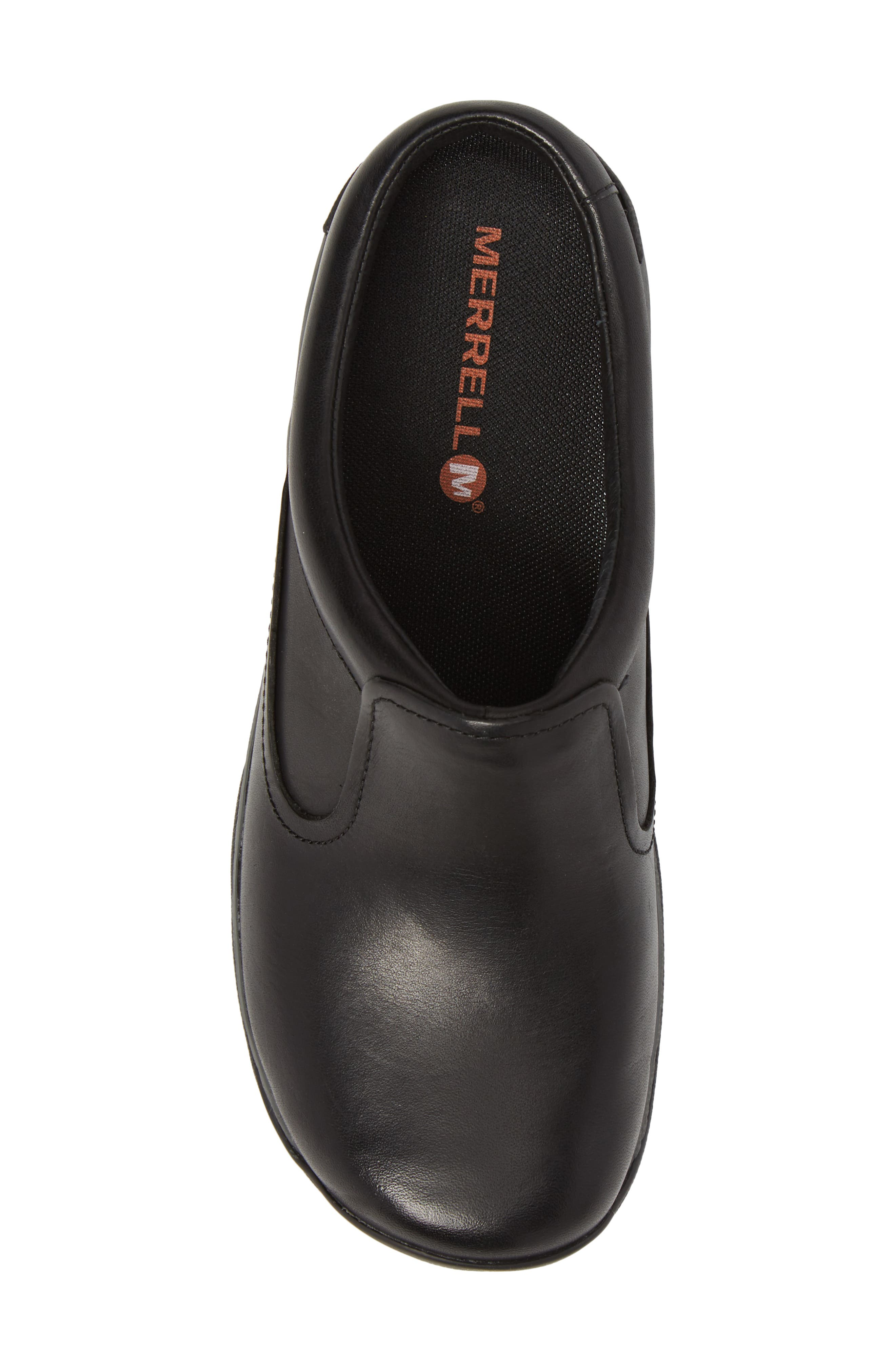 MERRELL, Encore Q2 Clog, Alternate thumbnail 5, color, BLACK LEATHER