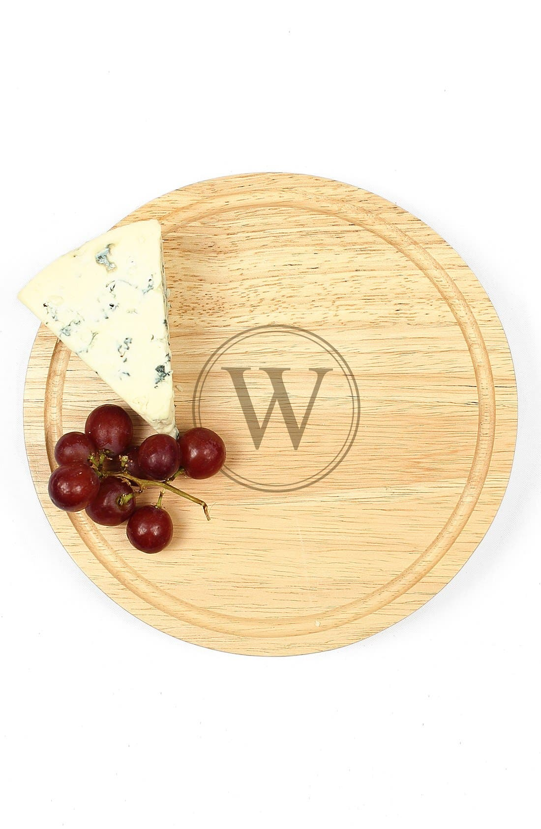 CATHY'S CONCEPTS, 5-Piece Monogram Cheese Board & Utensil Set, Alternate thumbnail 3, color, A