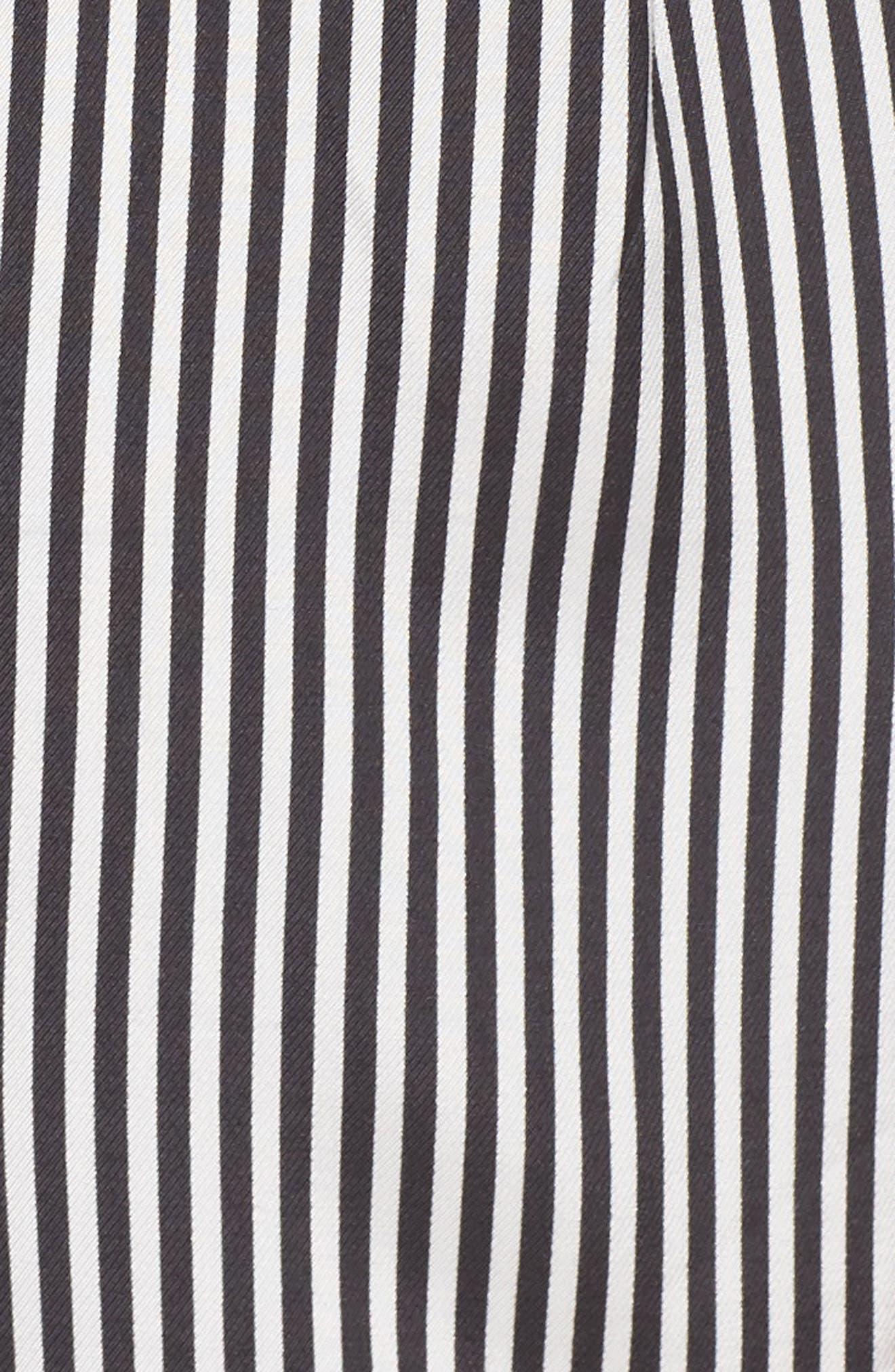 ALI & JAY, Retro Stripe Jumpsuit, Alternate thumbnail 6, color, BLACK/ WHITE