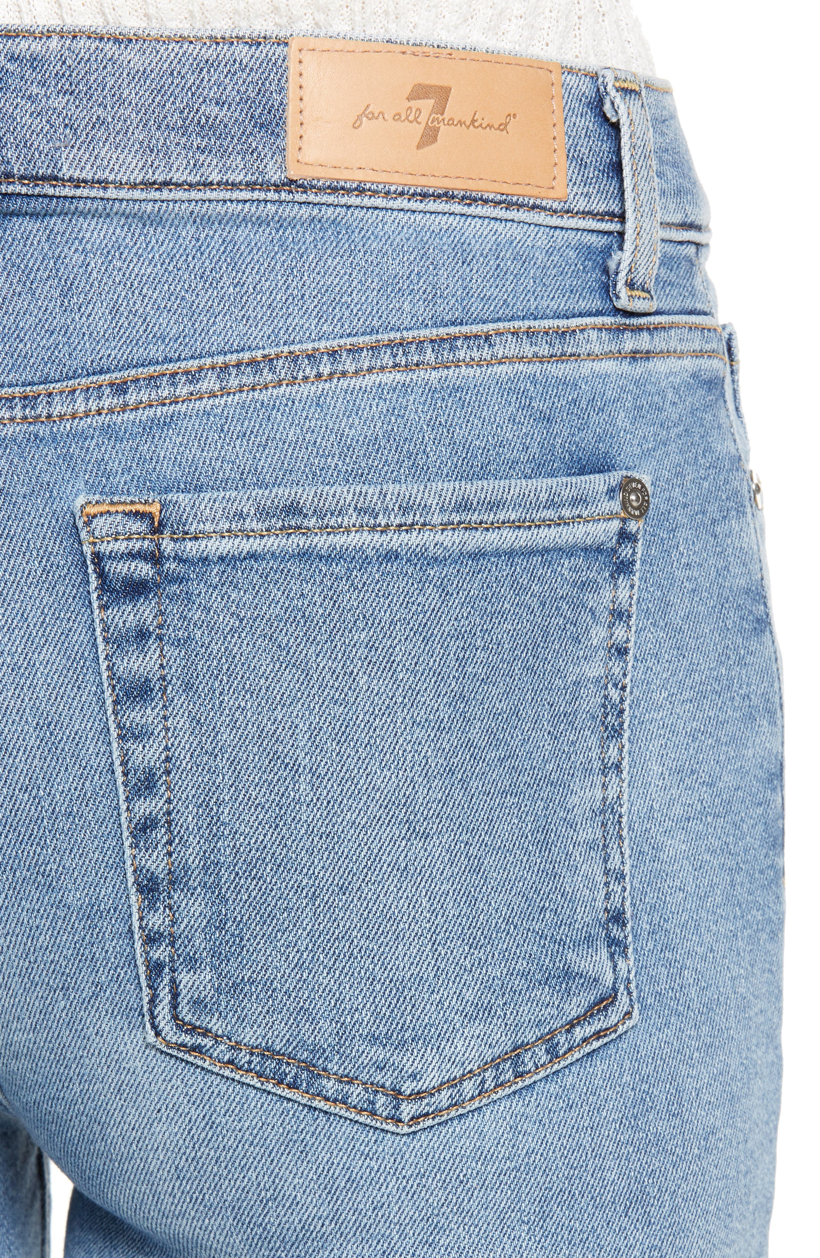 7 FOR ALL MANKIND<SUP>®</SUP>, High Waist Ankle Skinny Jeans, Alternate thumbnail 5, color, LUXE VINTAGE FLORA