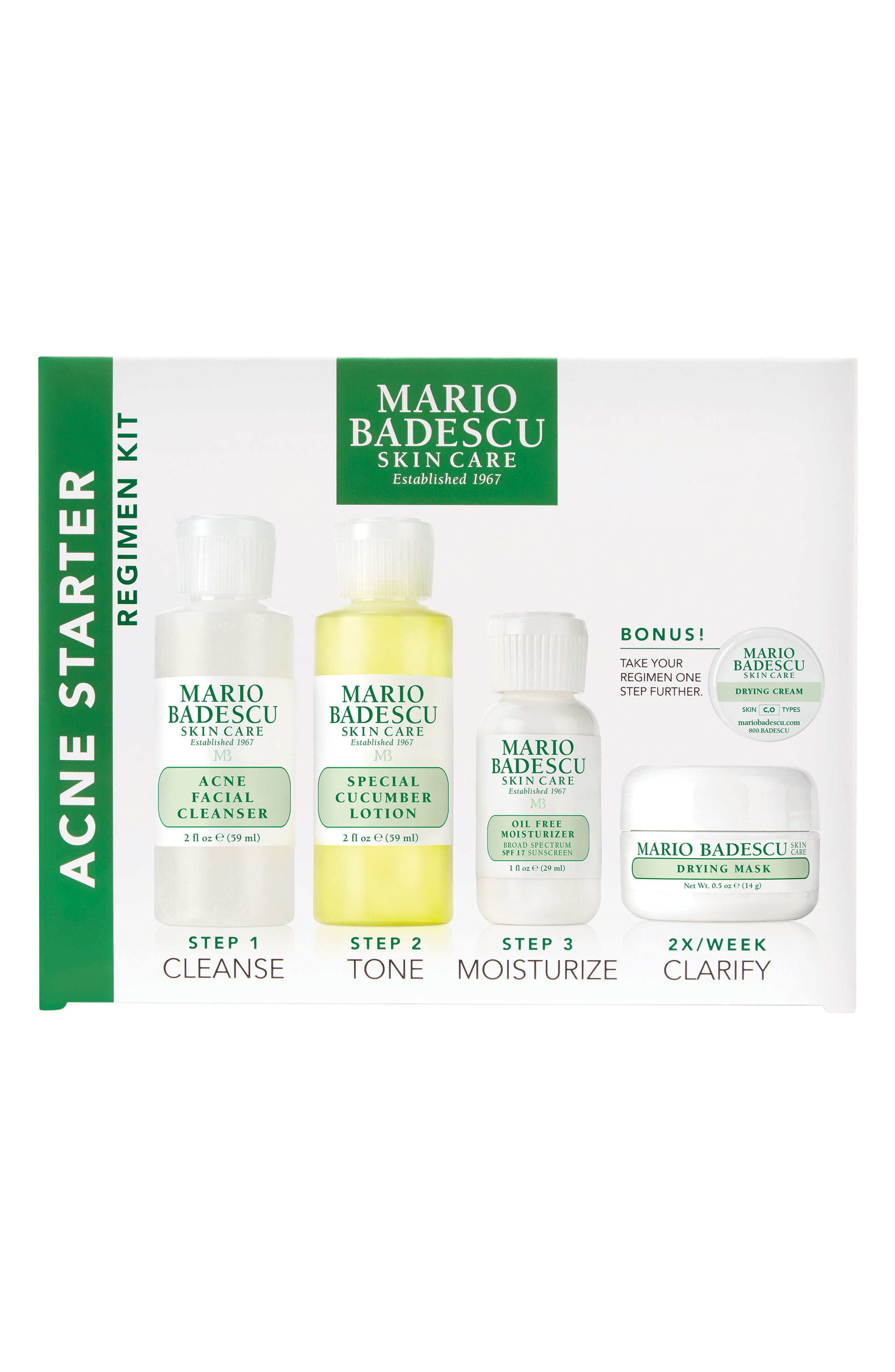 MARIO BADESCU, Acne Starter Regimen Kit, Alternate thumbnail 2, color, NO COLOR